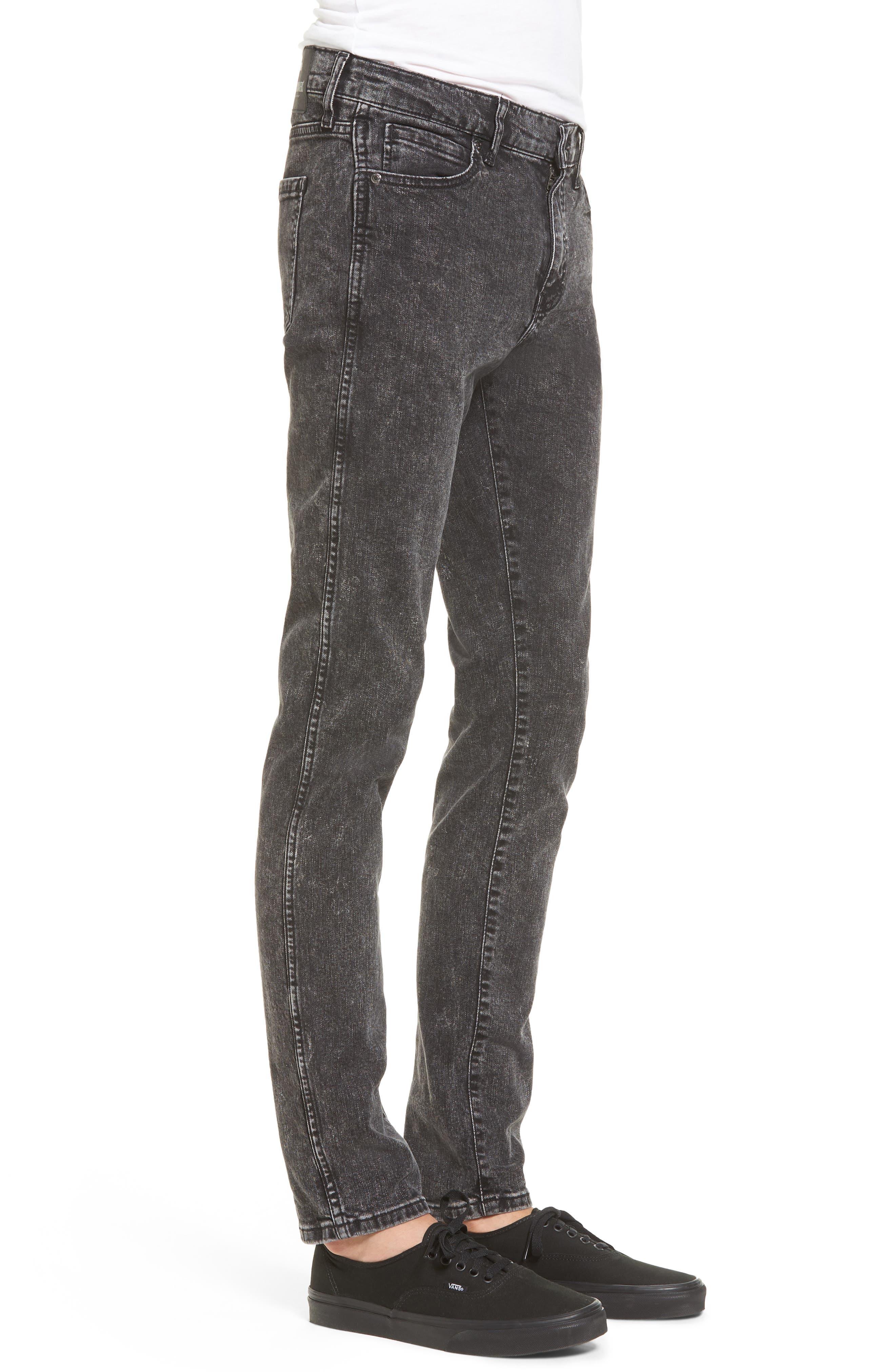 Alternate Image 3  - Dr. Denim Supply Co. Snap Skinny Fit Jeans (Acid Black)