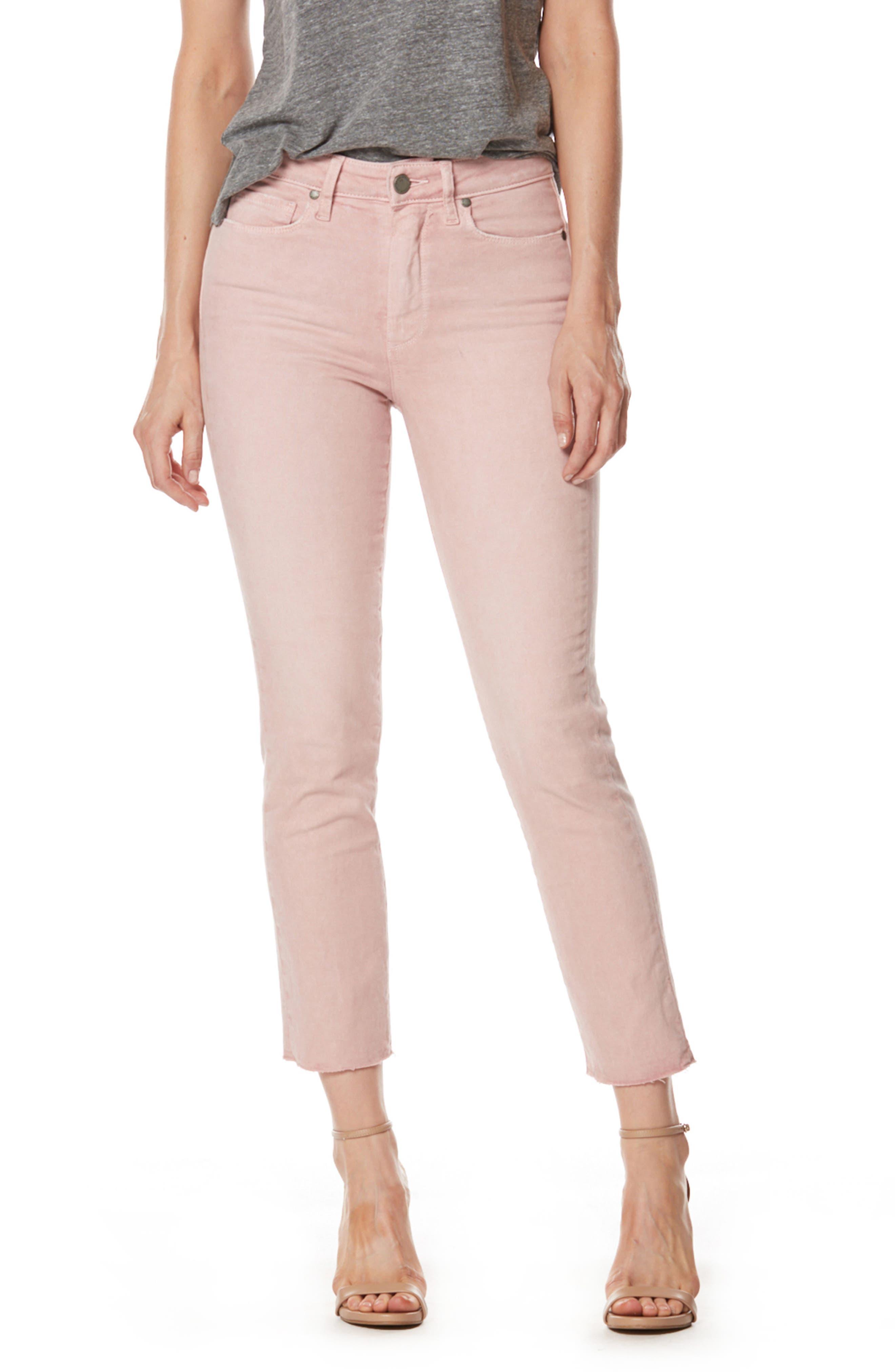 PAIGE Jacqueline High Waist Crop Straight Leg Jeans