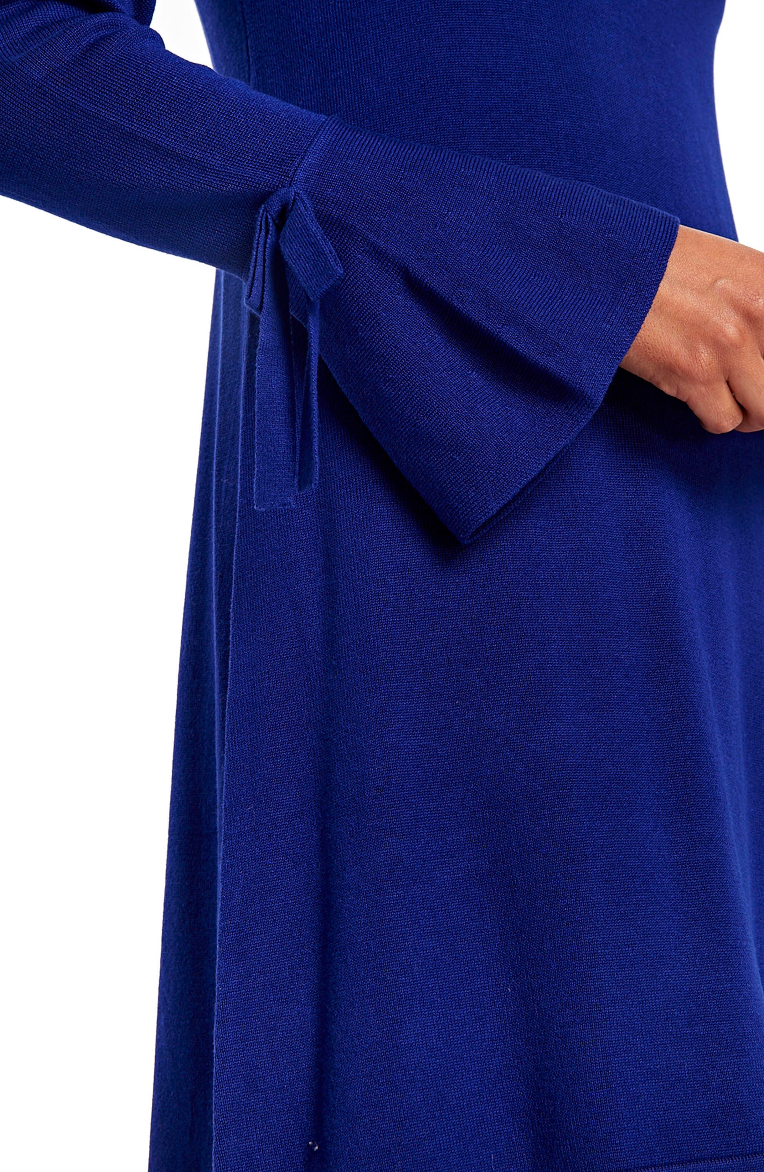 Alternate Image 4  - Wallis Knitted Bow Sleeve Shift Dress