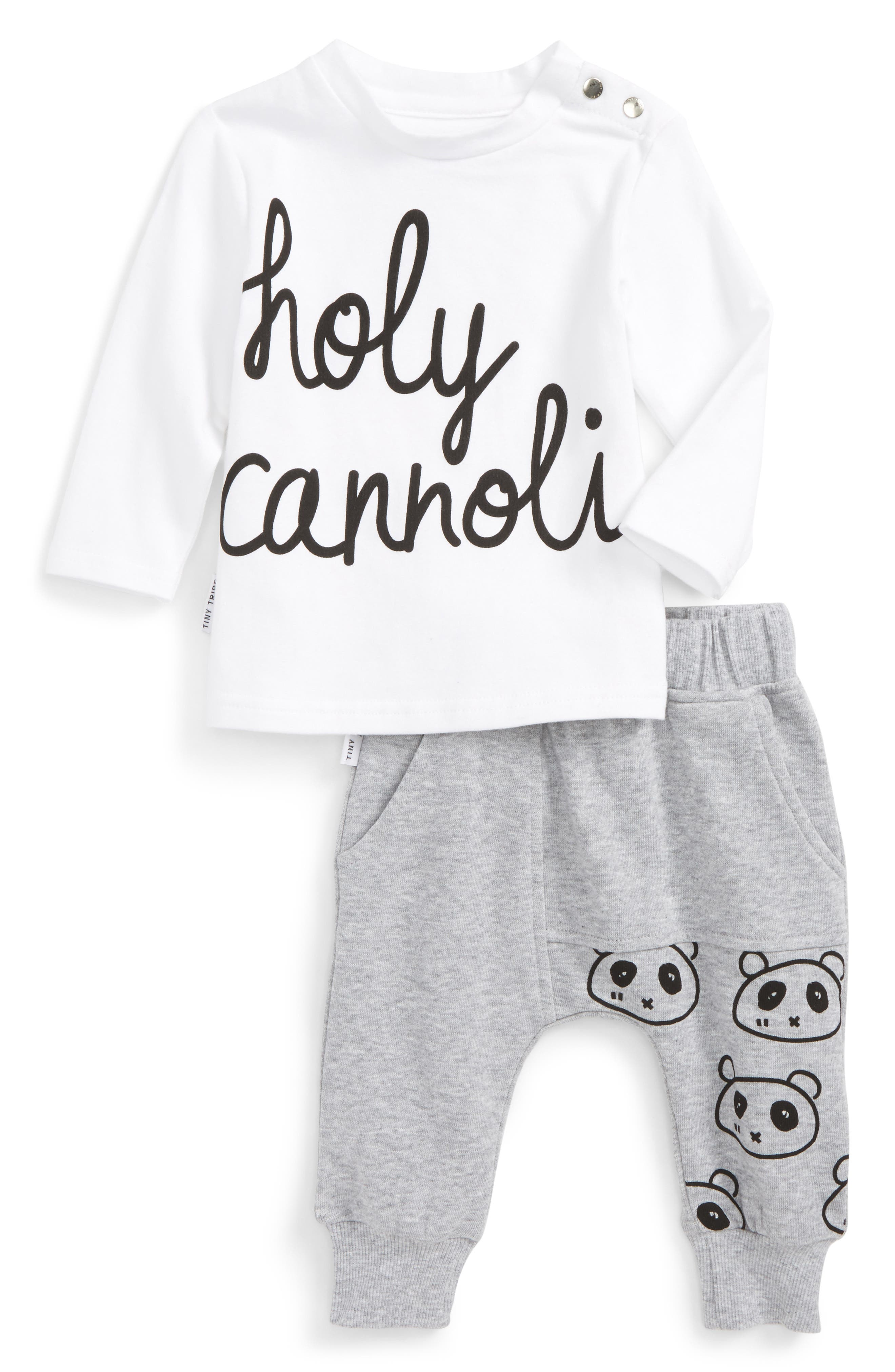 Tiny Tribe Holy Cannoli T-Shirt & Sweatpants (Baby & Toddler)