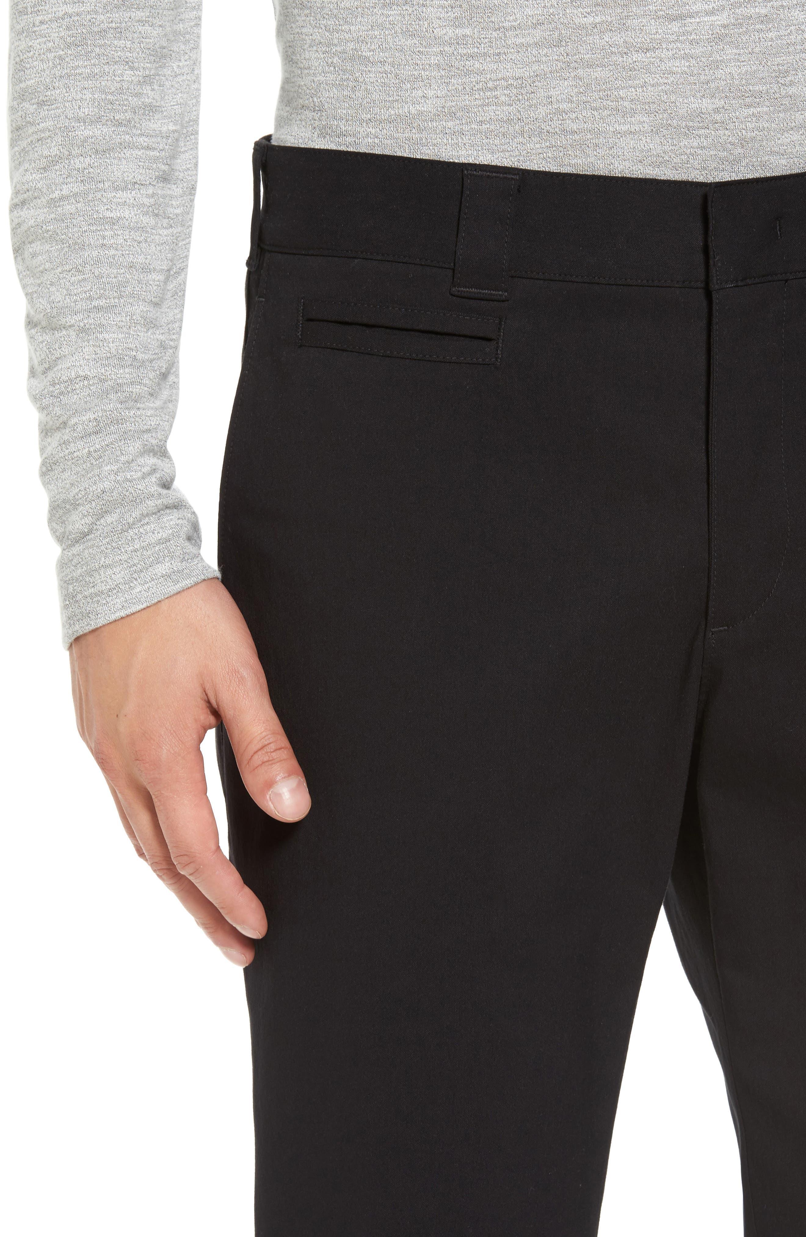 Utility Modern Straight Leg Pants,                             Alternate thumbnail 4, color,                             Black
