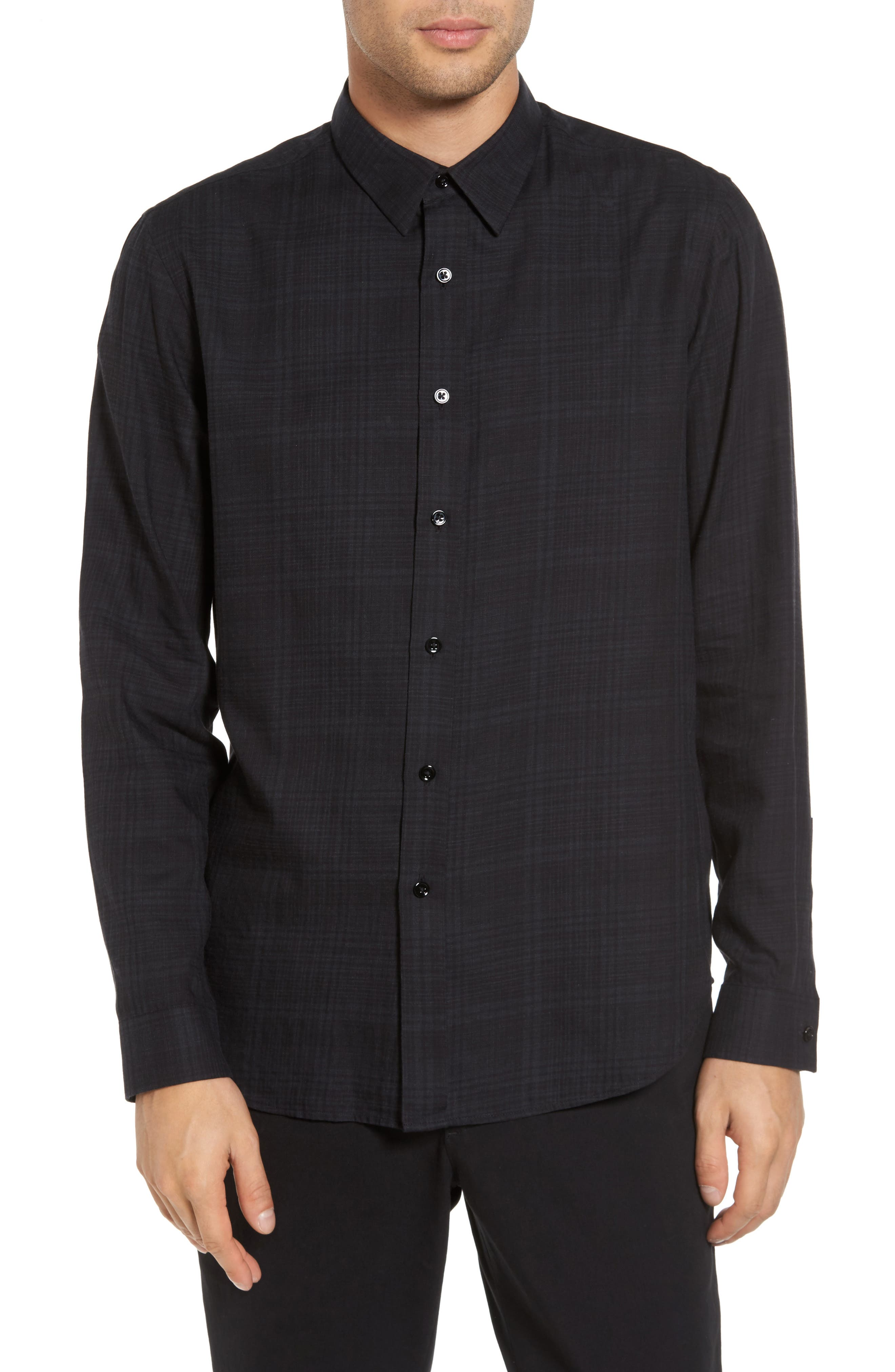 Alternate Image 1 Selected - Theory Trim Fit Plaid Sport Shirt