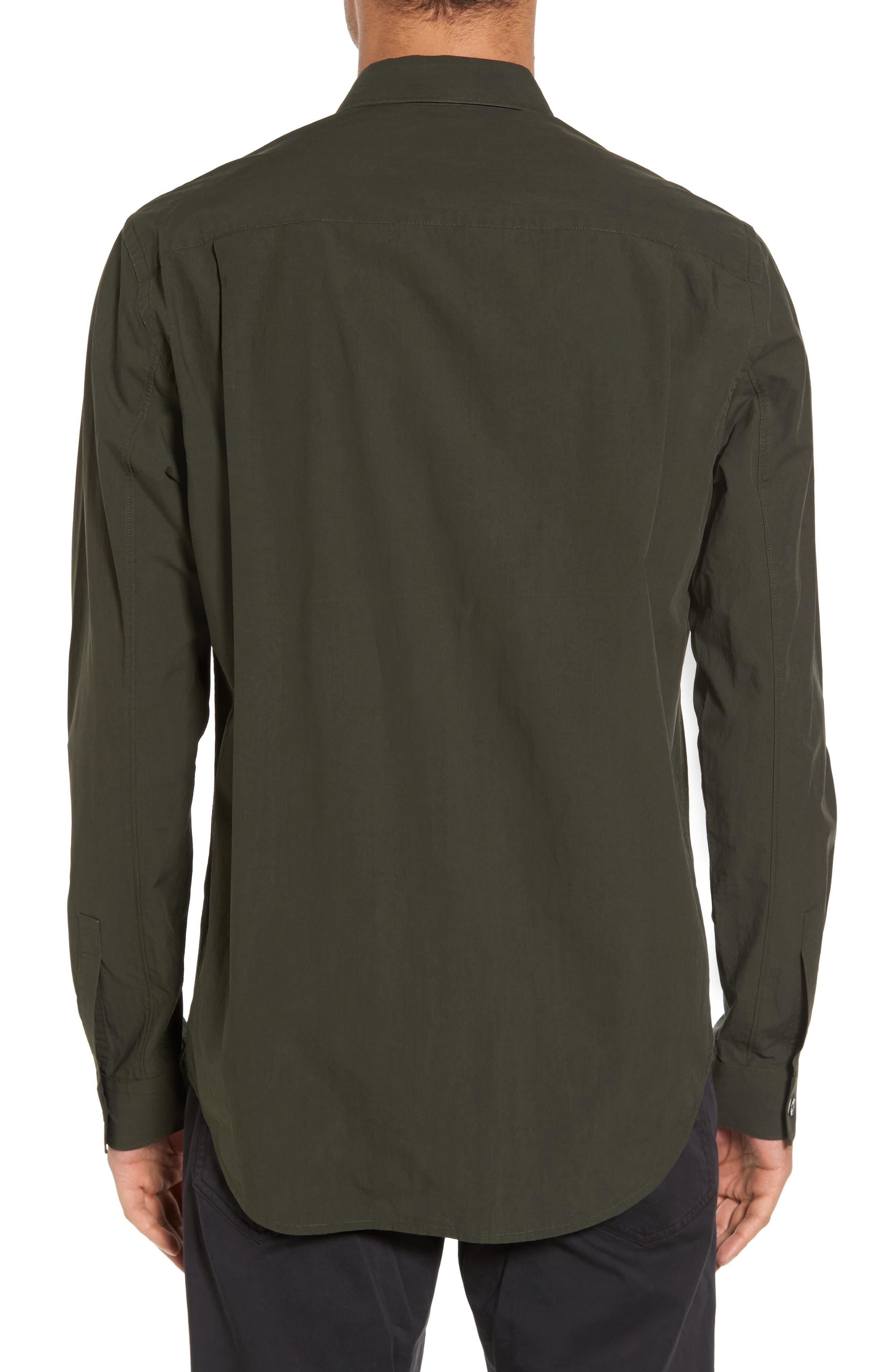 Rammy Trim Fit Solid Sport Shirt,                             Alternate thumbnail 2, color,                             Mantis
