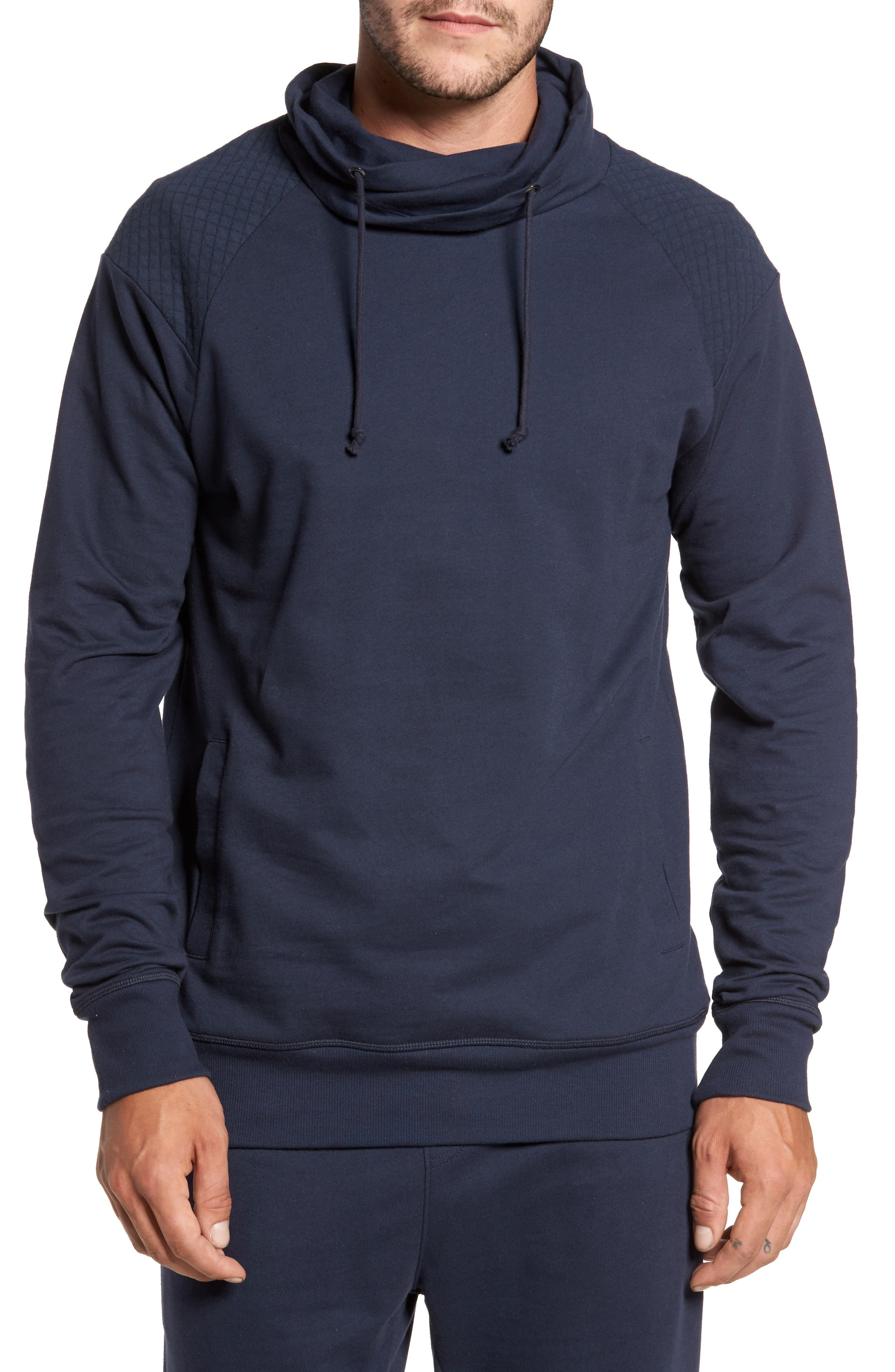 Nordstrom Men's Shop Quilted Funnel Neck Pullover Hoodie