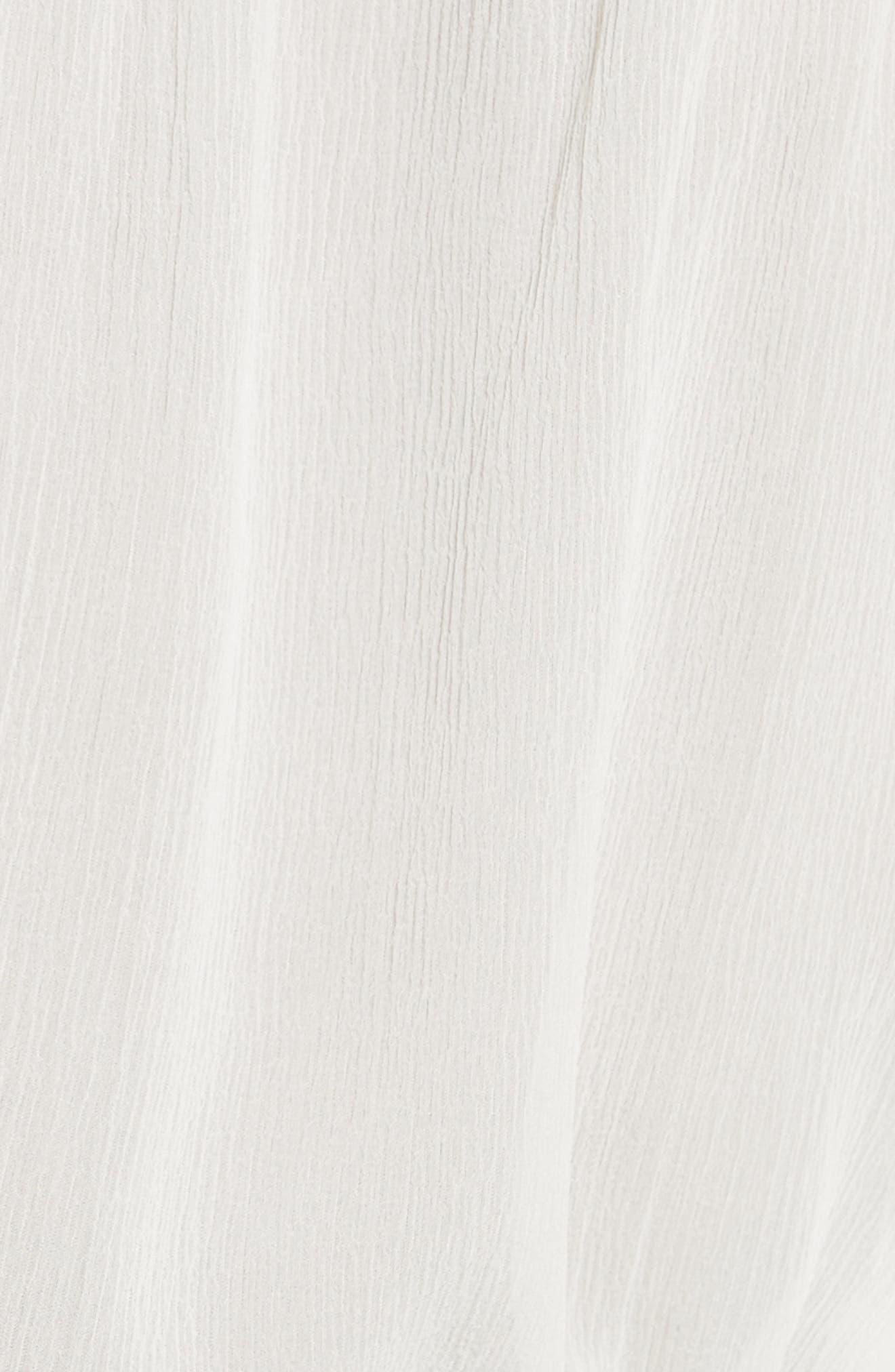 Ruffle Silk Blouse,                             Alternate thumbnail 5, color,                             Off White