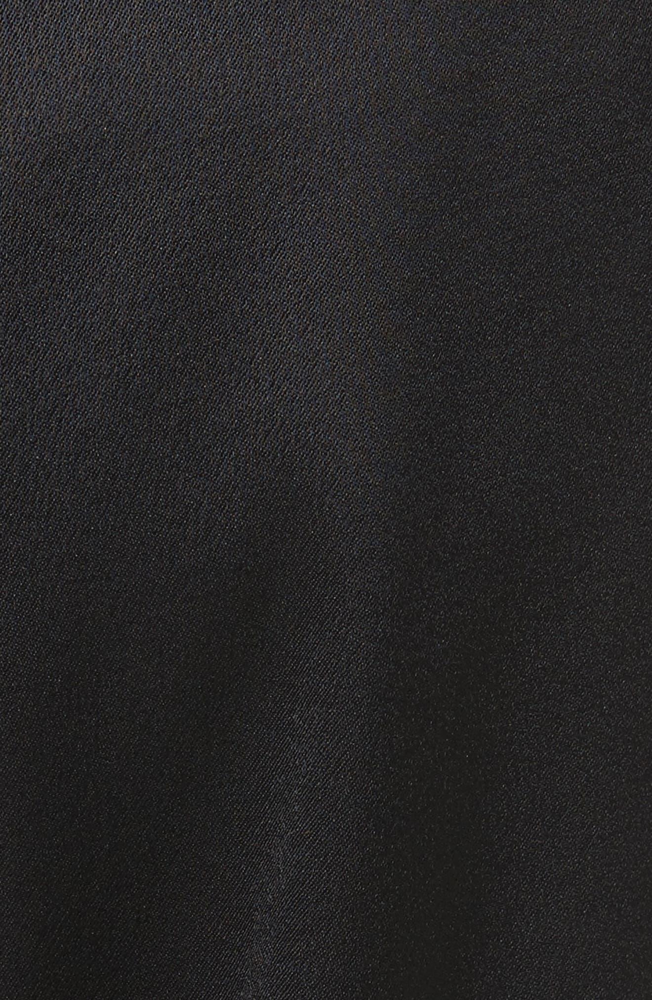 Ankle Straight Leg Trousers,                             Alternate thumbnail 5, color,                             Noir
