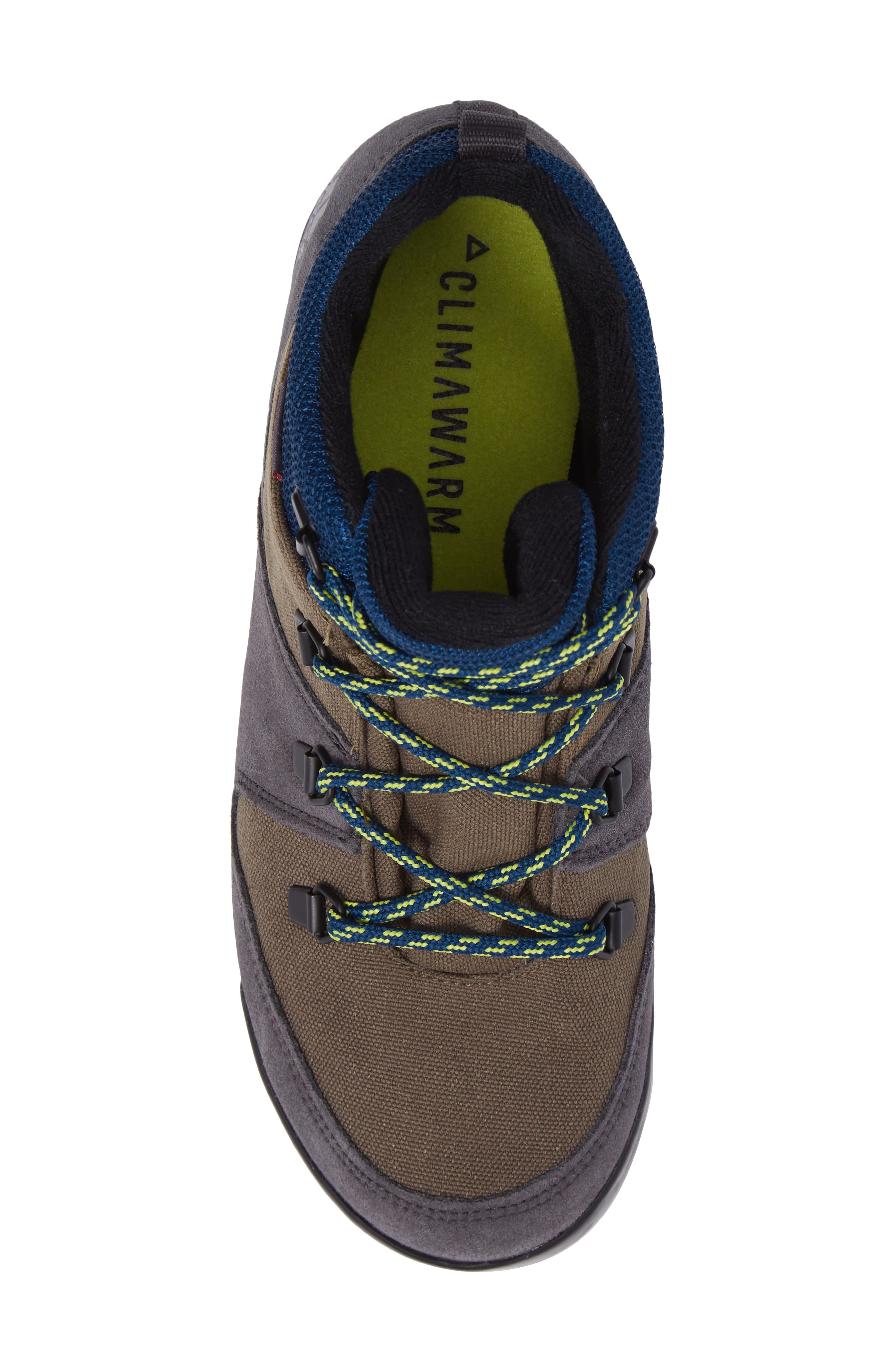 Snowpitch Insulated Sneaker Boot,                             Alternate thumbnail 5, color,                             Cargo/ Black/ Solar Yellow