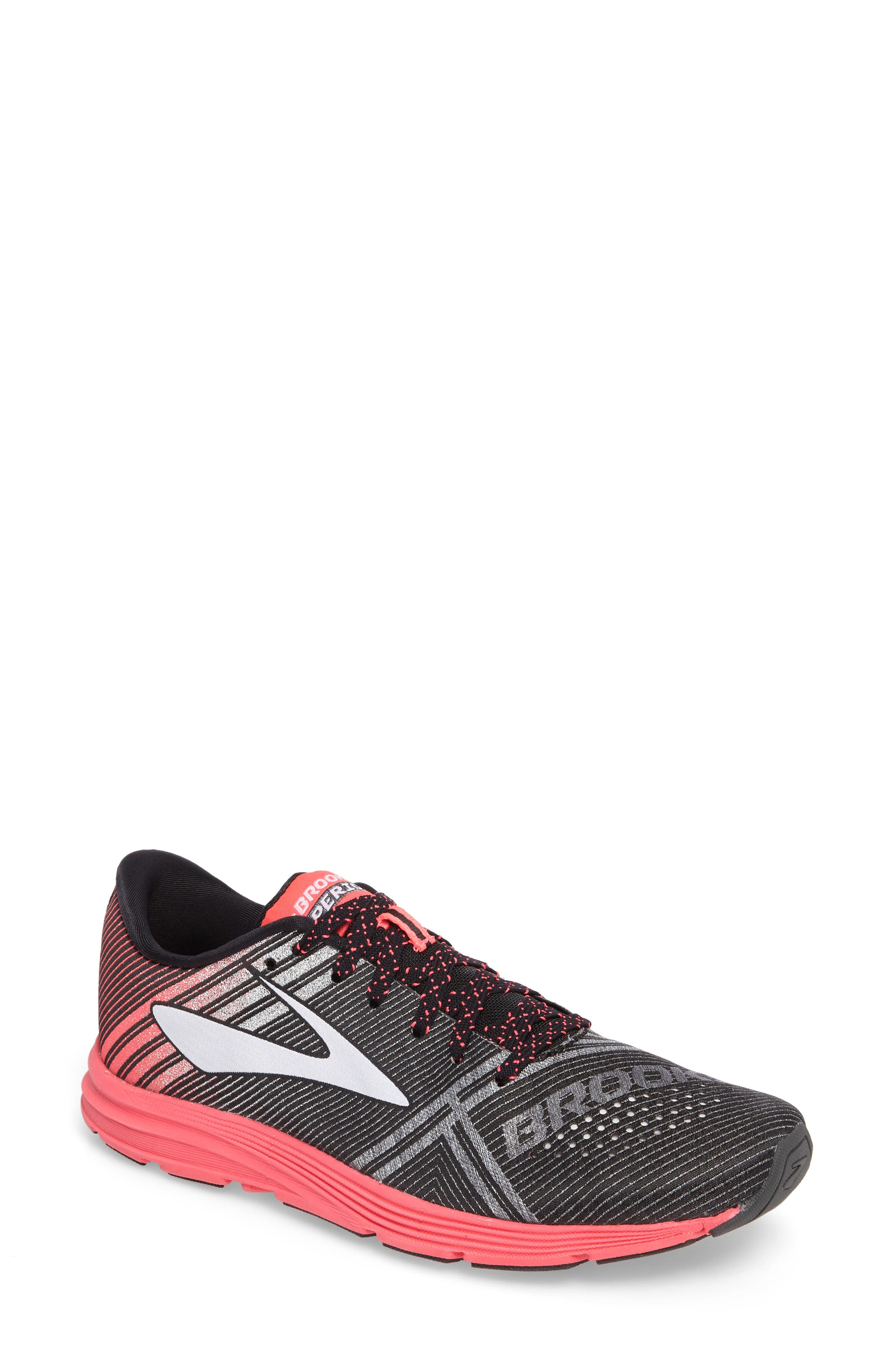 'Hyperion' Running Shoe,                             Main thumbnail 1, color,                             Black/ Pink/ Diamond