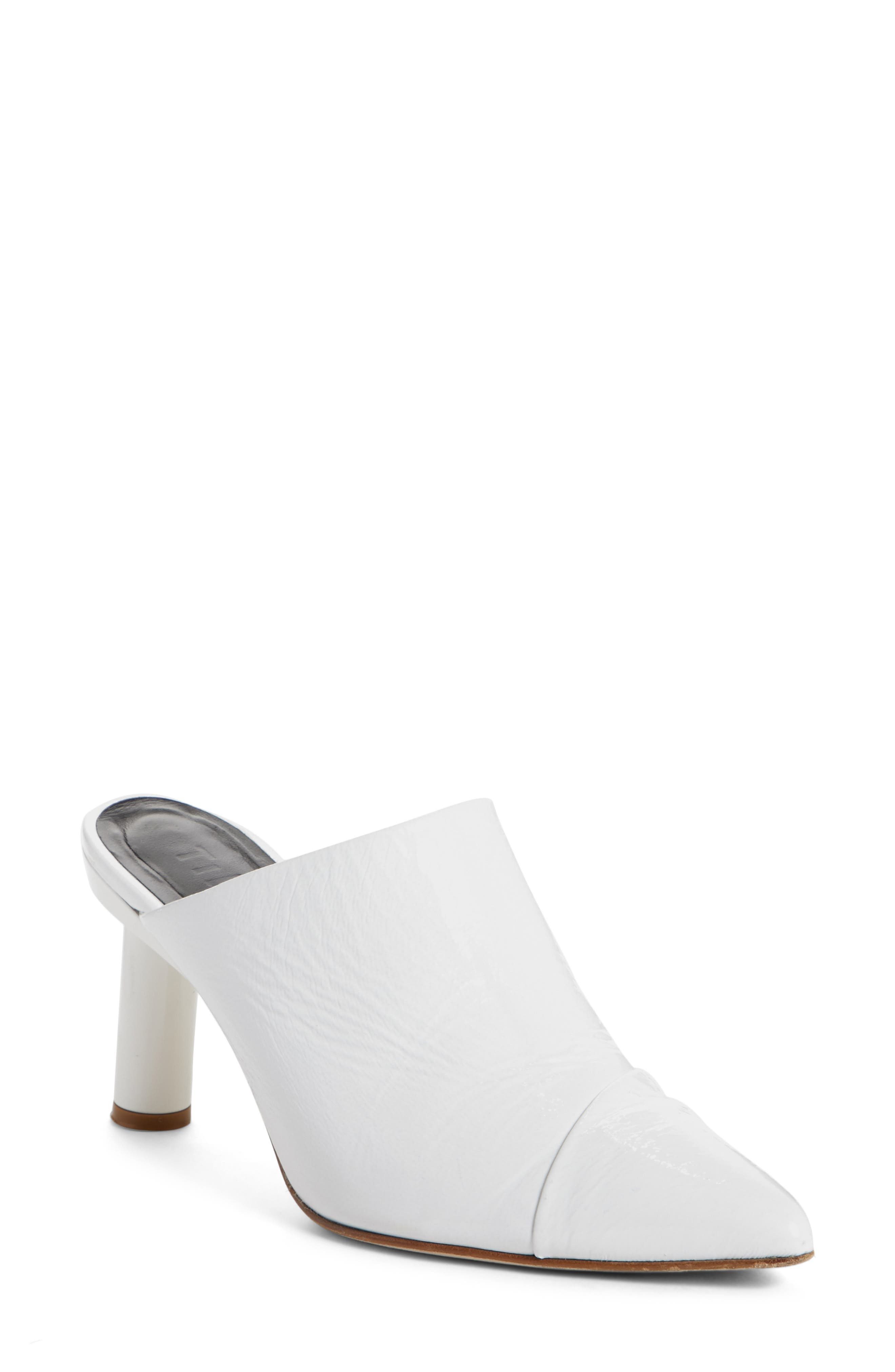 Liam Pointy Toe Mule,                         Main,                         color, Bright White
