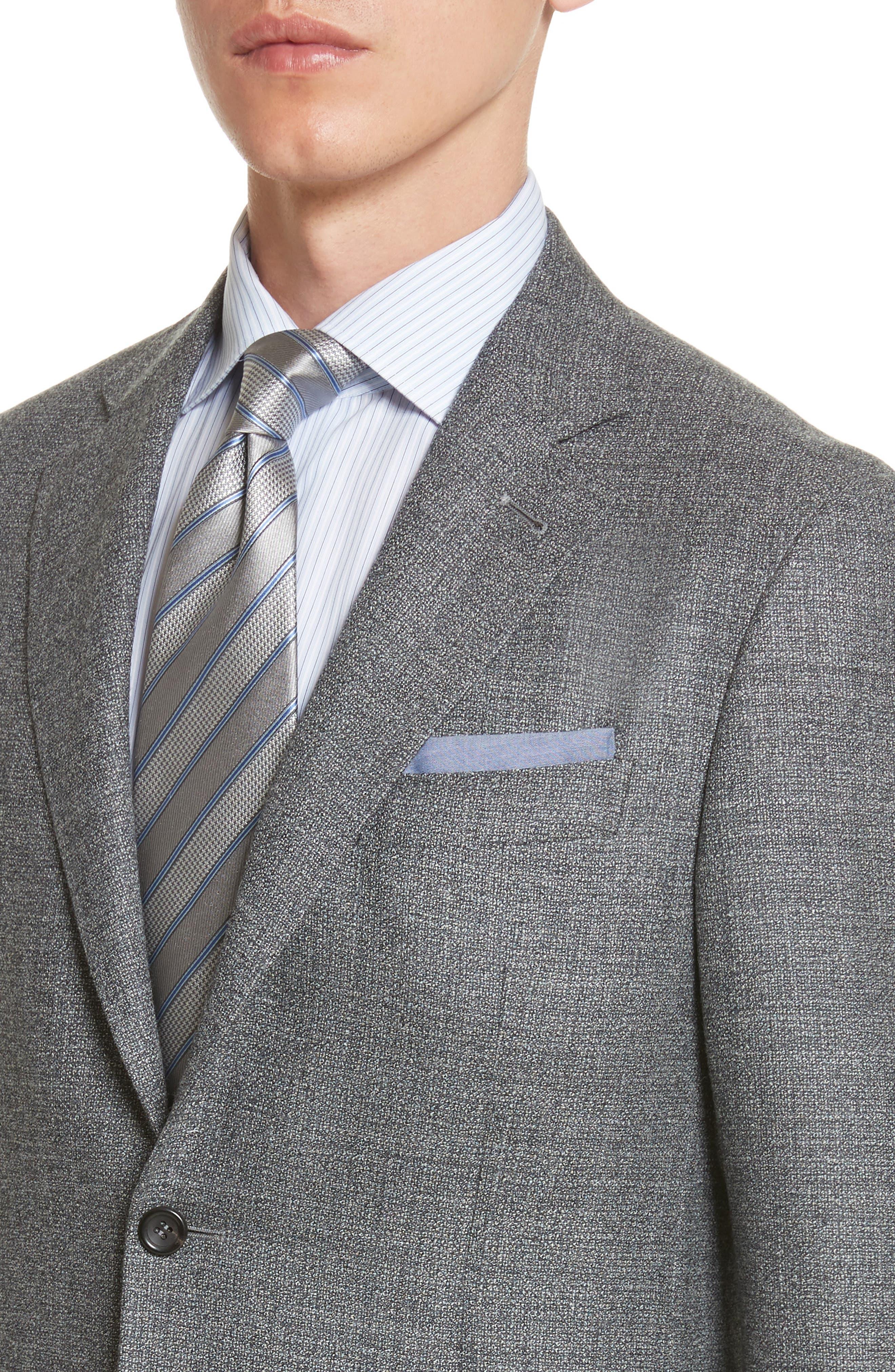 Kei Classic Fit Wool Blazer,                             Alternate thumbnail 4, color,                             Grey