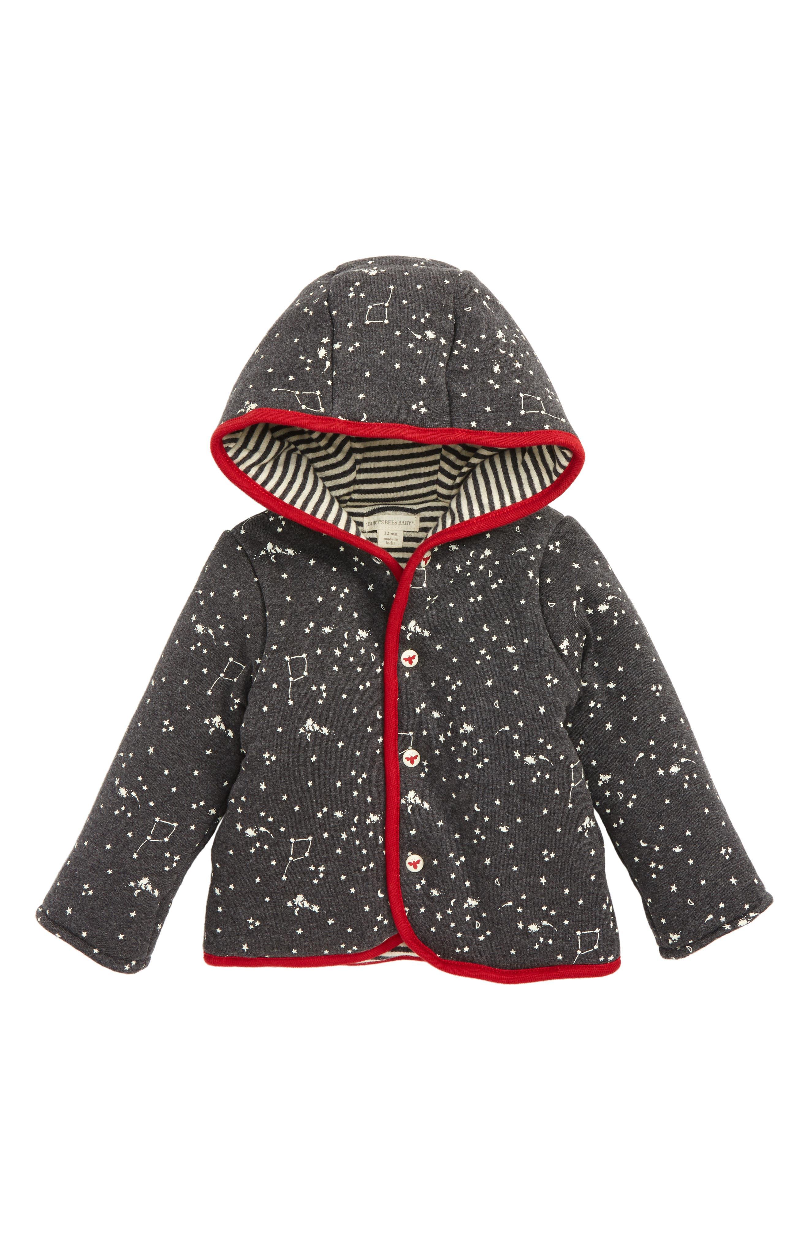 Main Image - Burt's Bees Reversible Organic Cotton Hoodie (Baby)