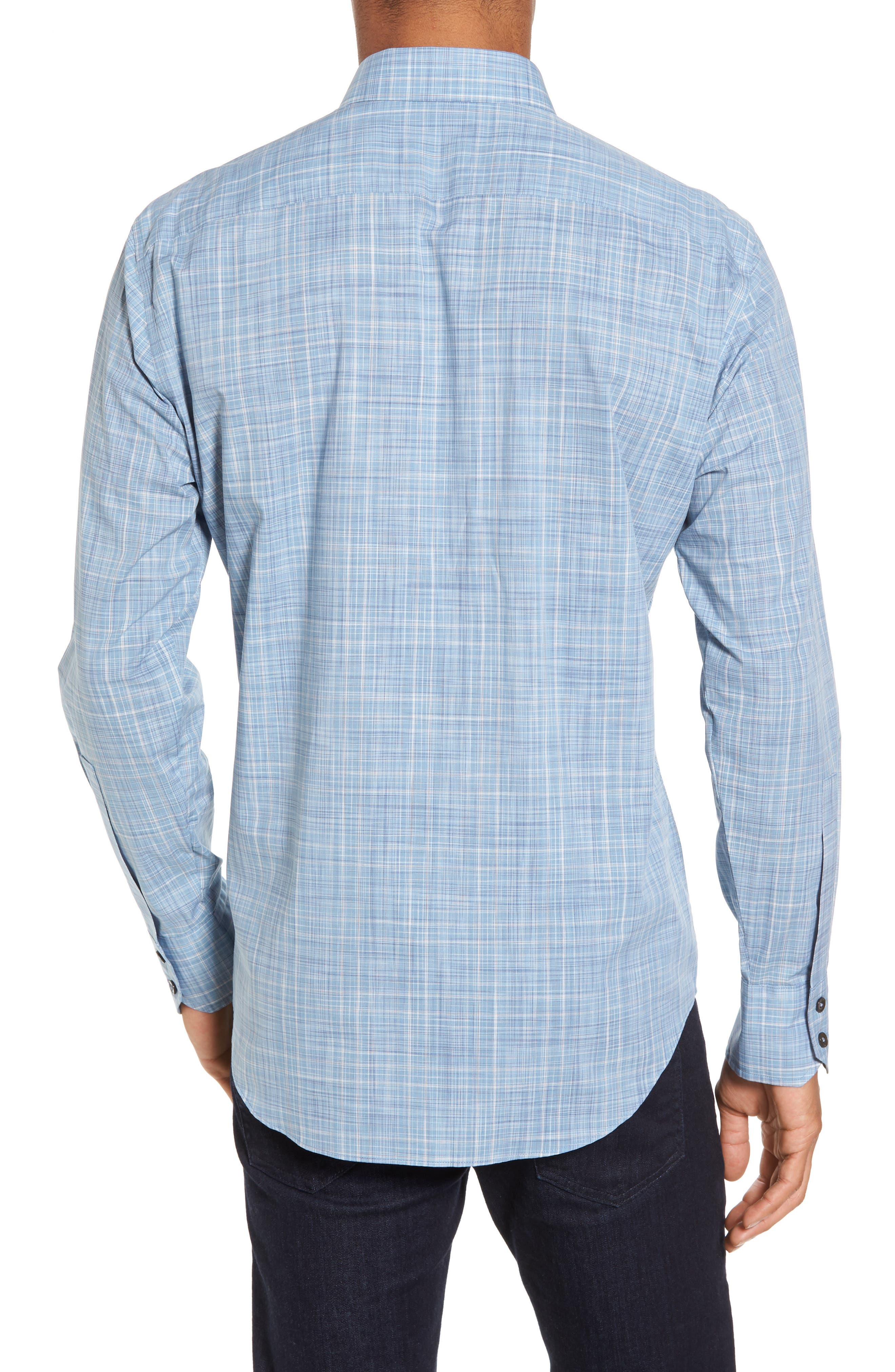 Alternate Image 2  - Zachary Prell Clark Slim Fit Plaid Sport Shirt
