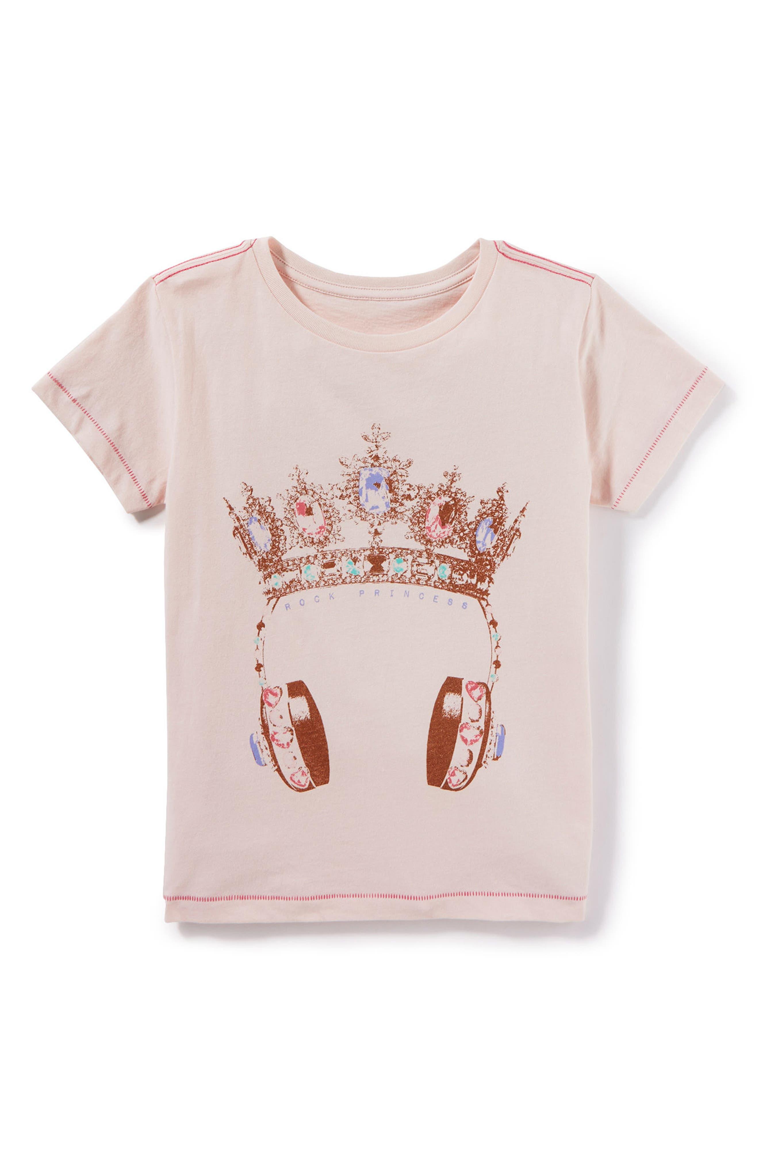 Main Image - Peek Rock Princess Graphic Tee (Toddler Girls, Little Girls & Big Girls)