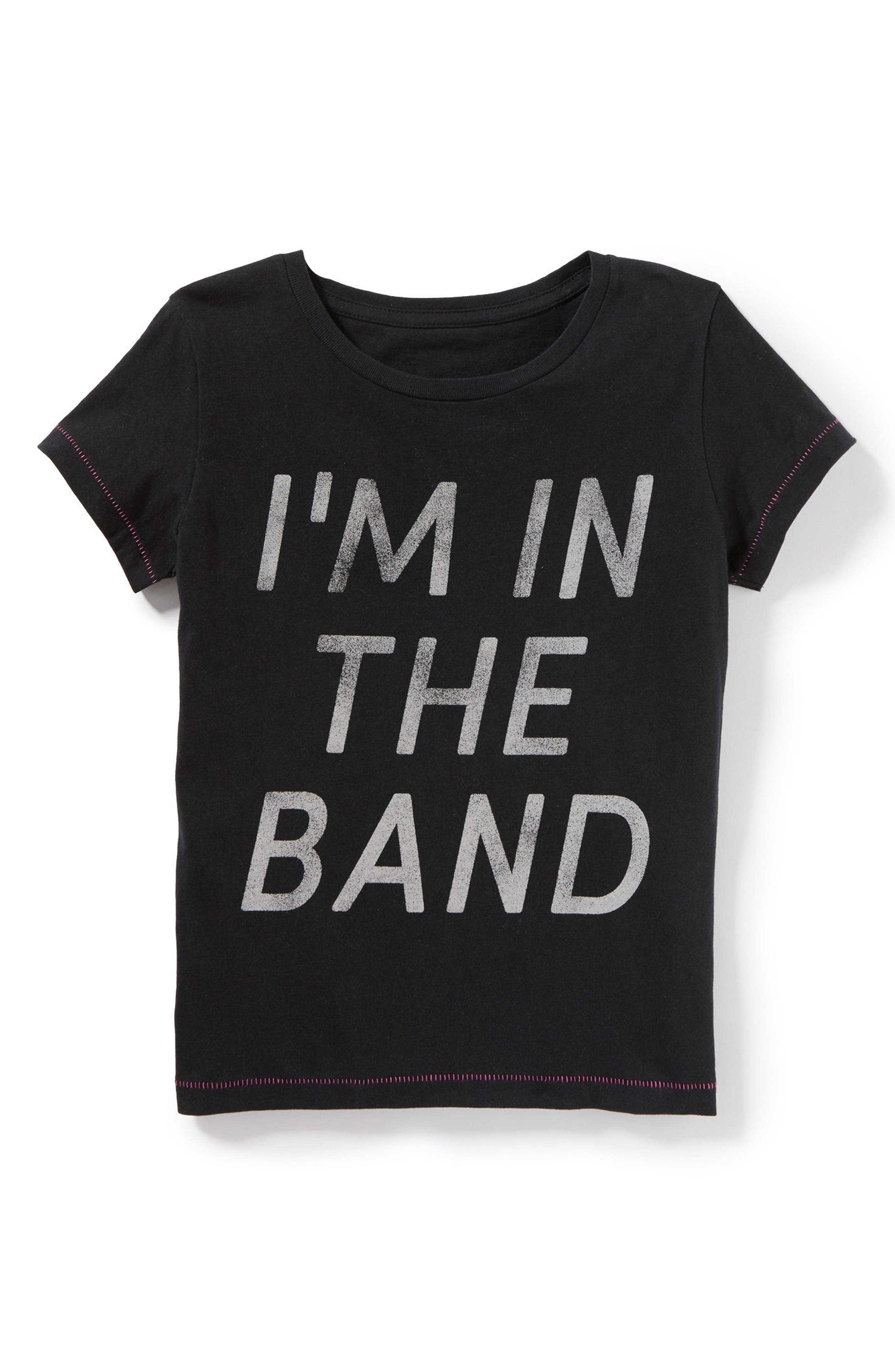 I'm In the Band Graphic Tee,                         Main,                         color, Black