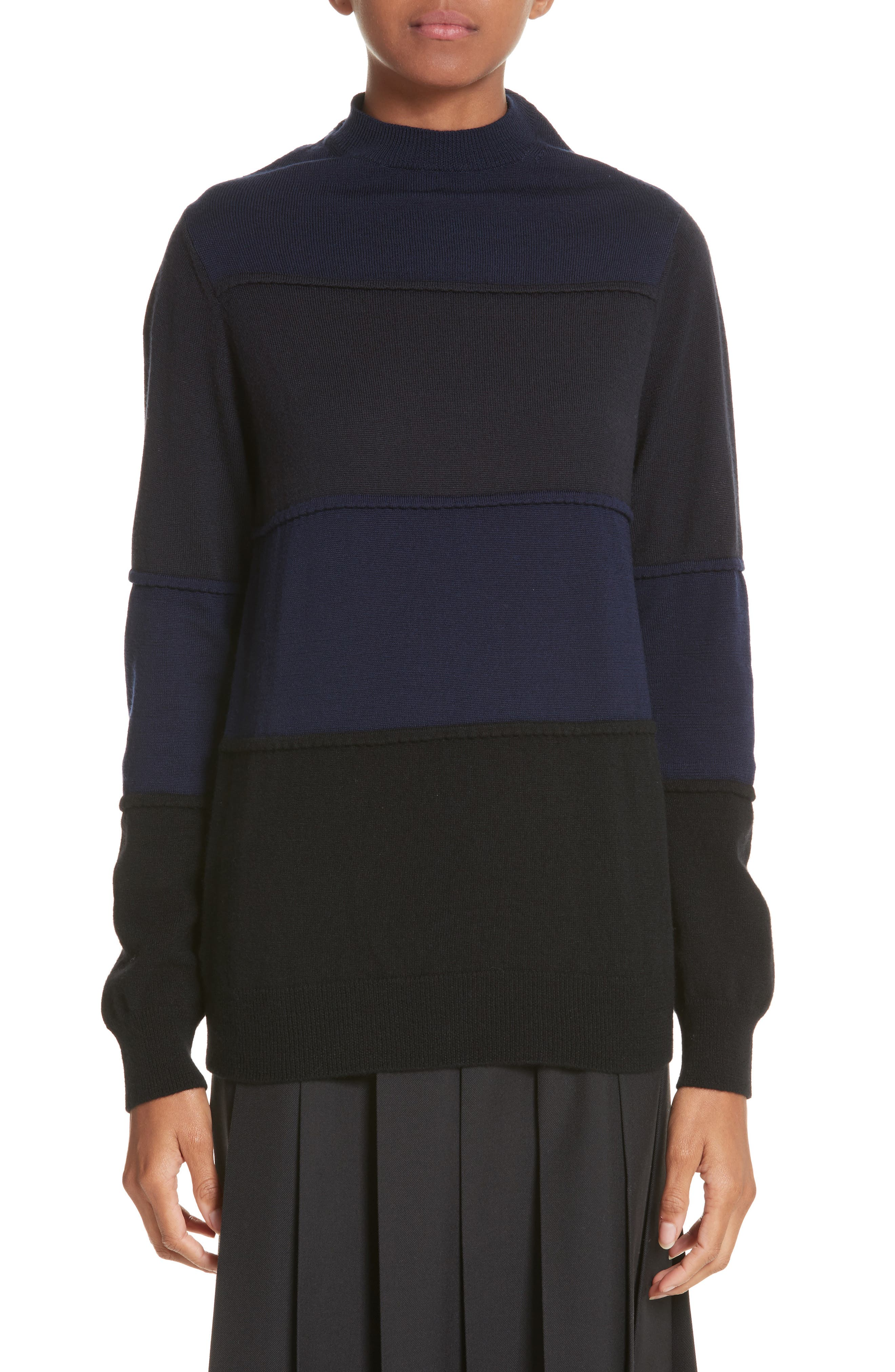 Main Image - Tricot Comme des Garçons Pintuck Stripe Sweater