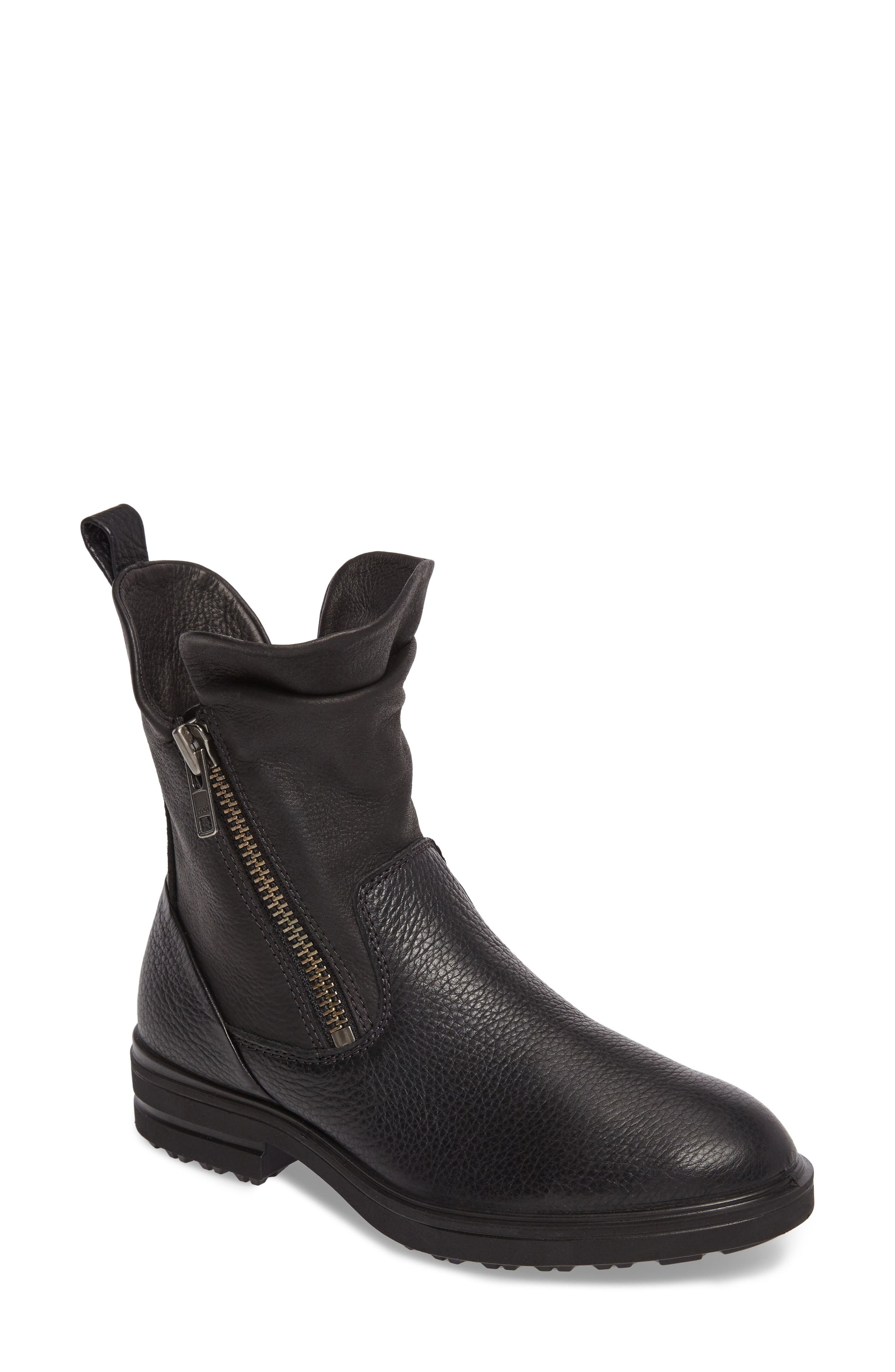 Zoe Mid Boot,                         Main,                         color, Black Leather