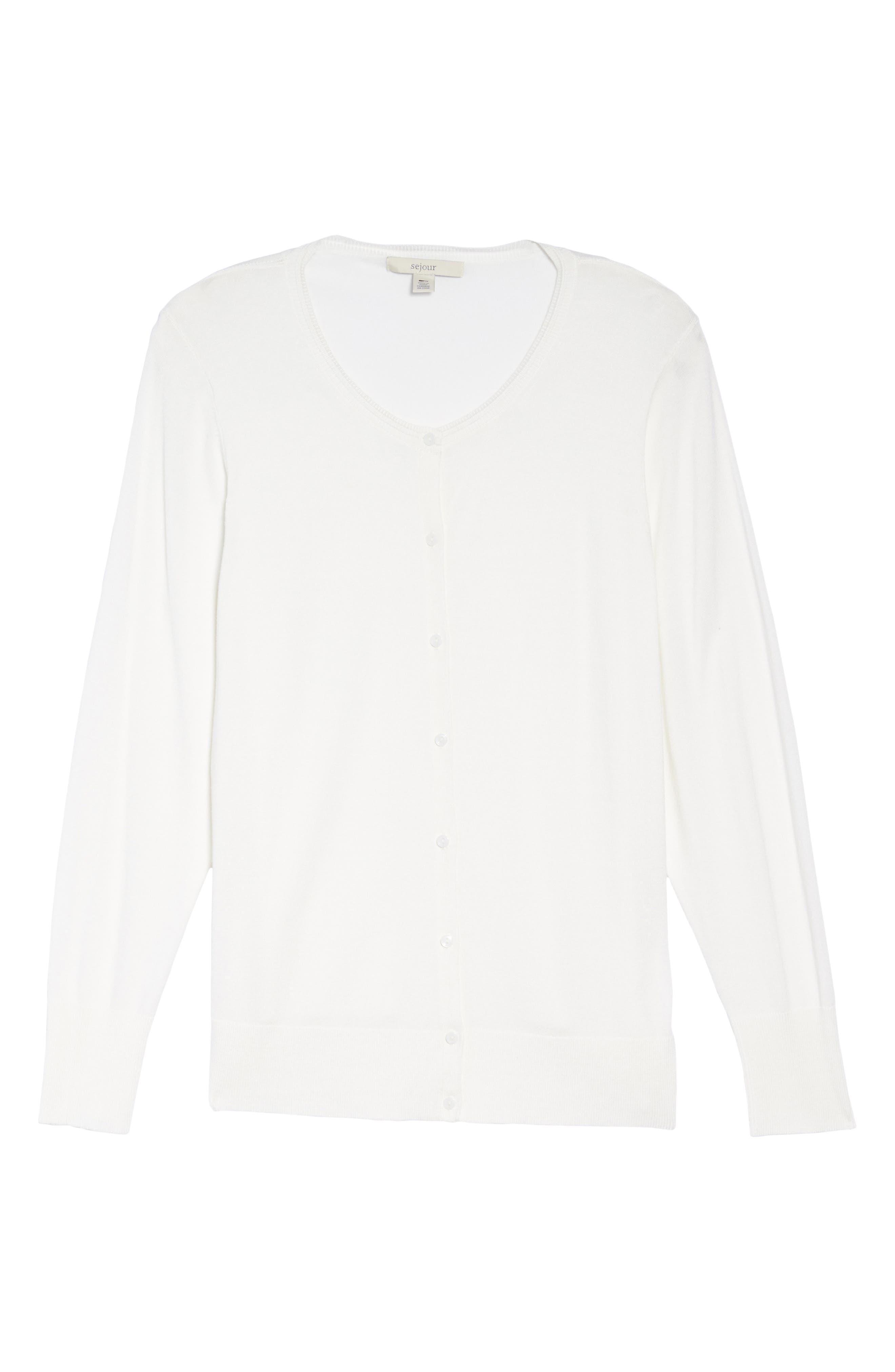 Alternate Image 6  - Sejour Button Front Cardigan (Plus Size)