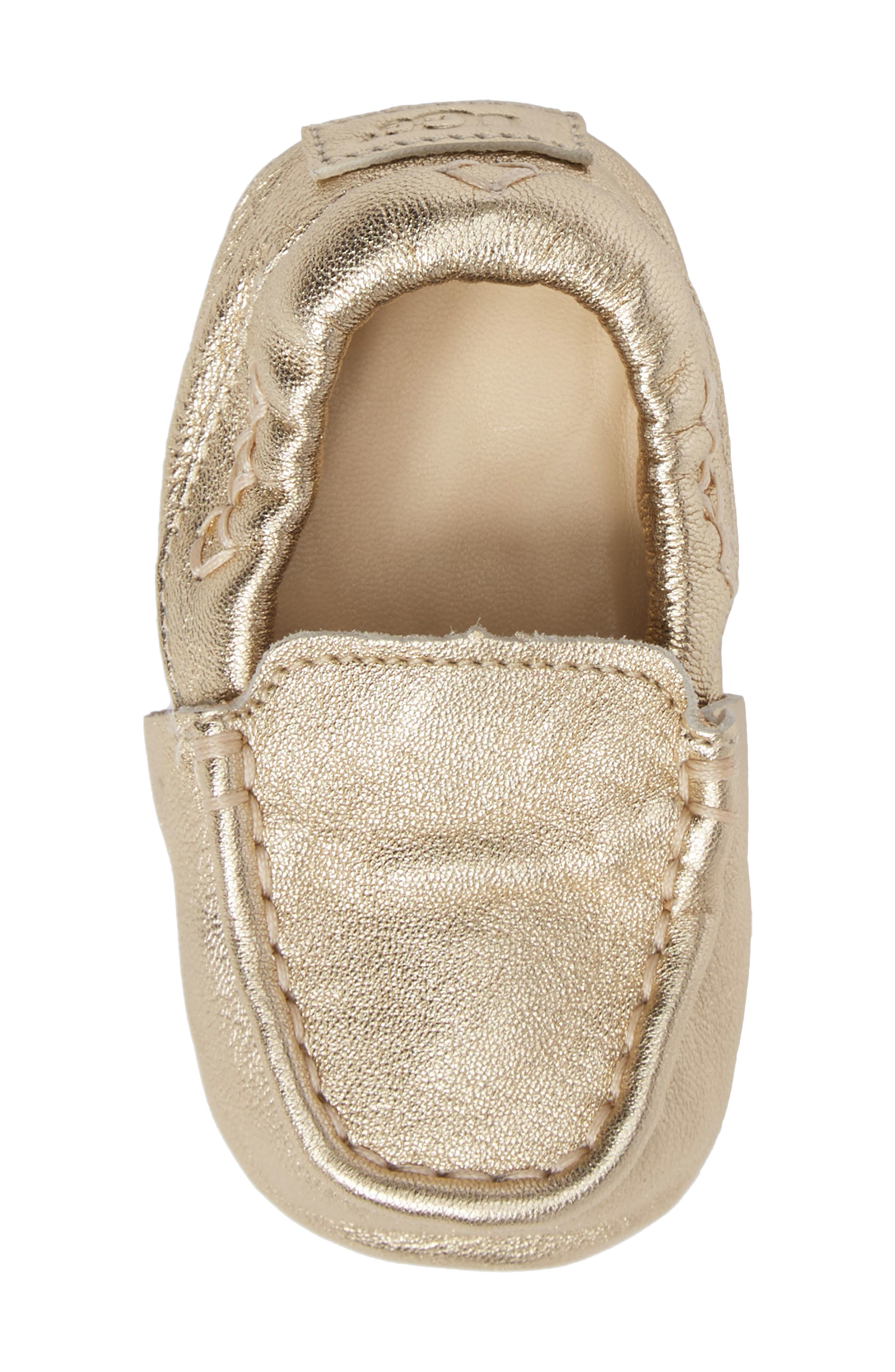Sivia Metallic Loafer,                             Alternate thumbnail 5, color,                             Gold