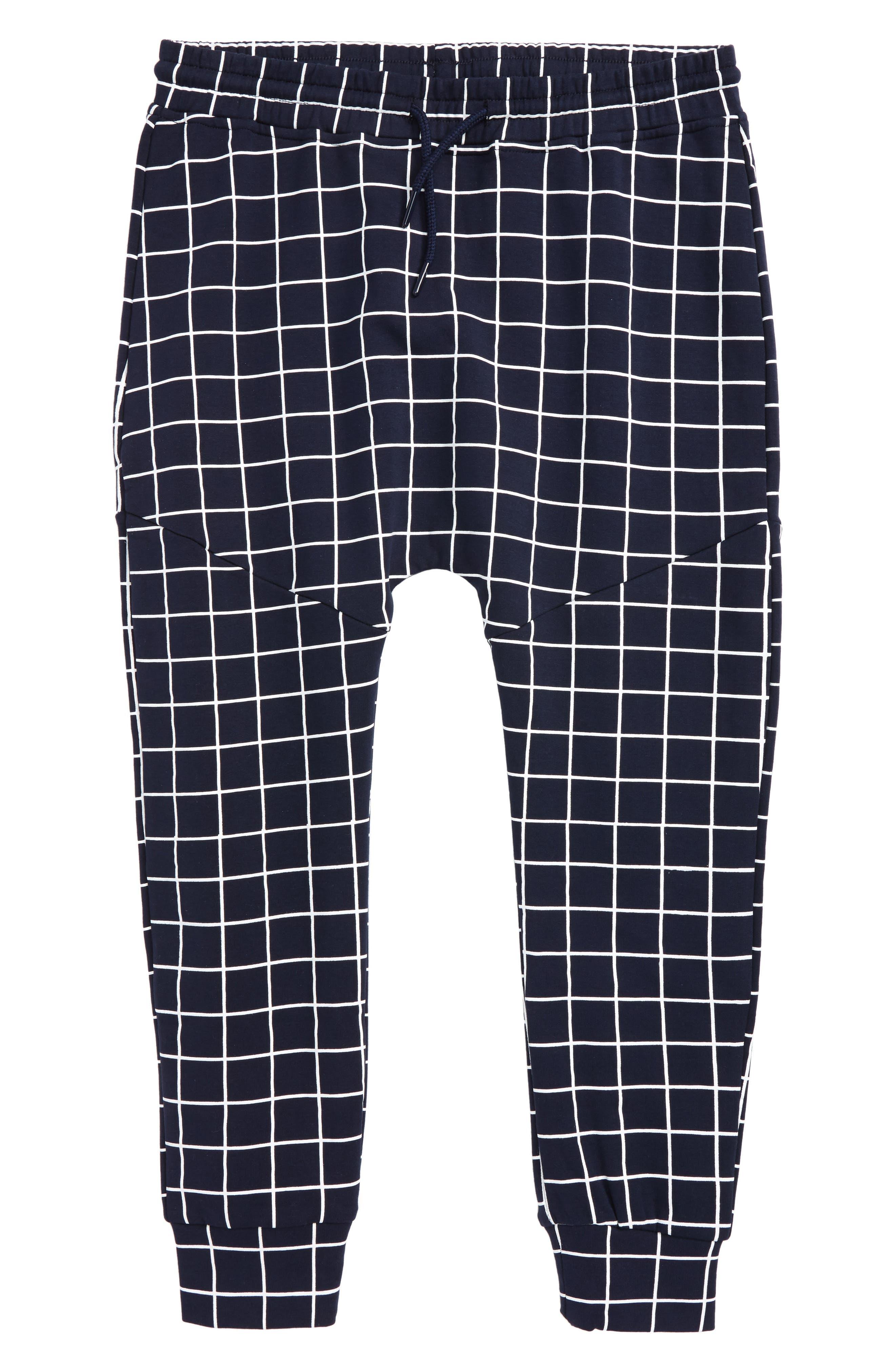 Axel Fleece Jogger Pants,                             Main thumbnail 1, color,                             Navy