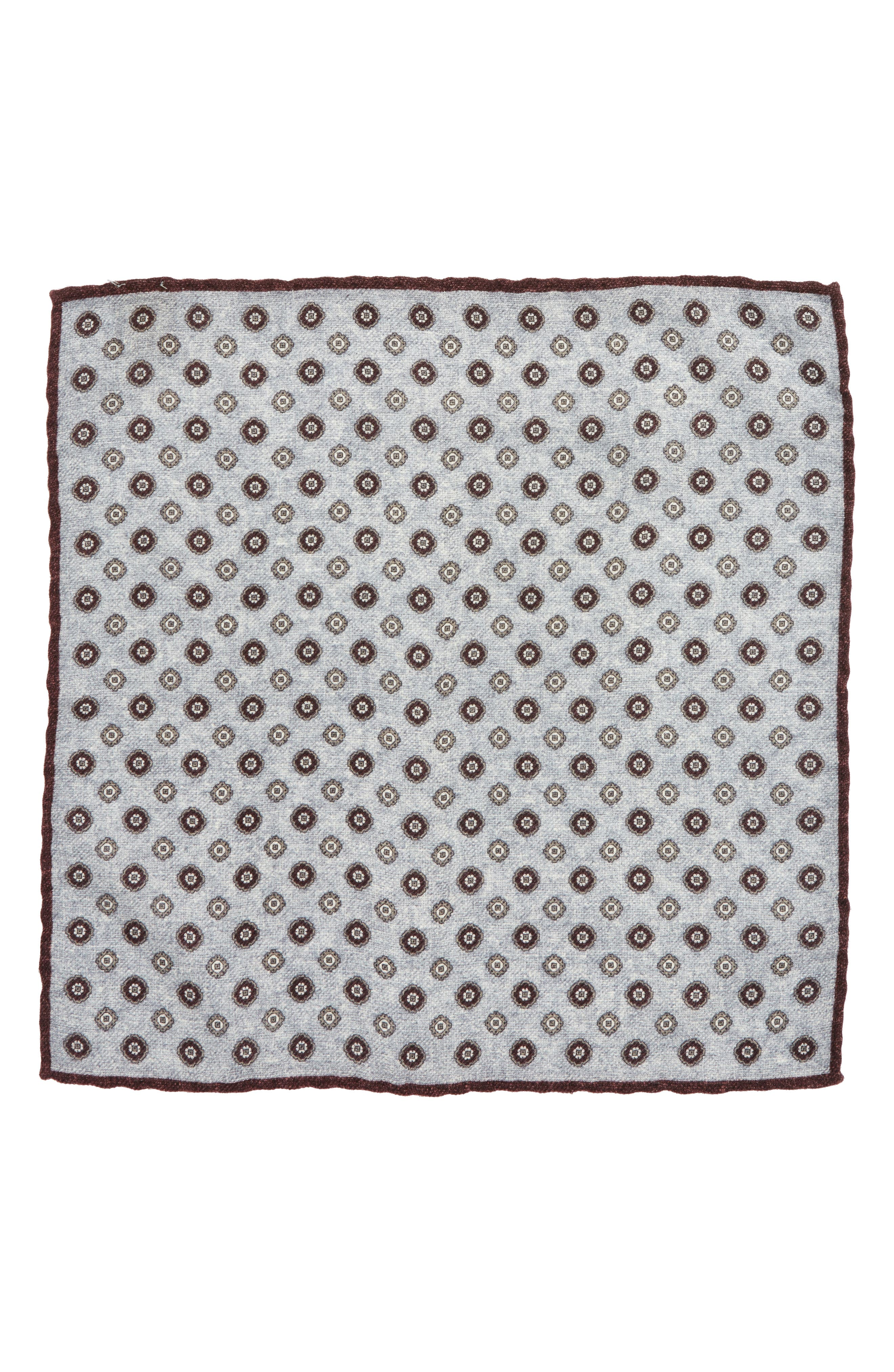 Alternate Image 2  - Eleventy Medallion Wool Pocket Square