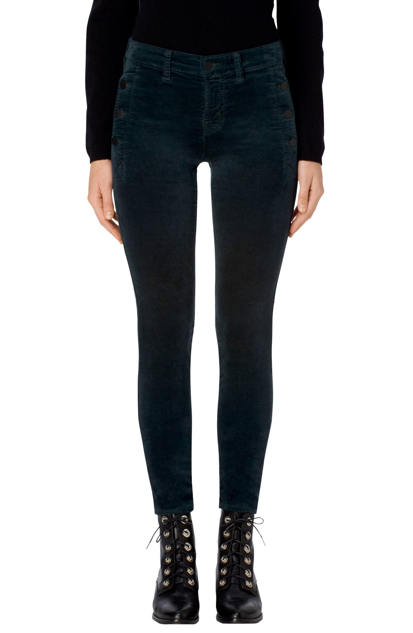 Alternate Image 1 Selected - J Brand Zion Mid Rise Velvet Skinny Jeans