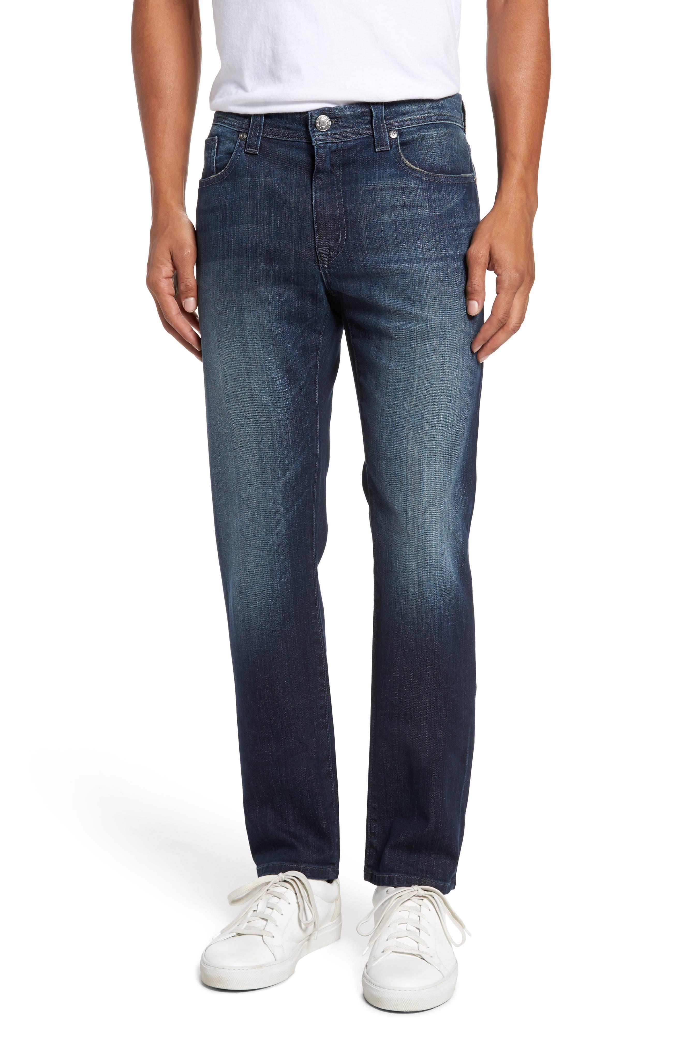 Main Image - Fidelity Denim Jimmy Slim Straight Leg Jeans (Militia Blue)