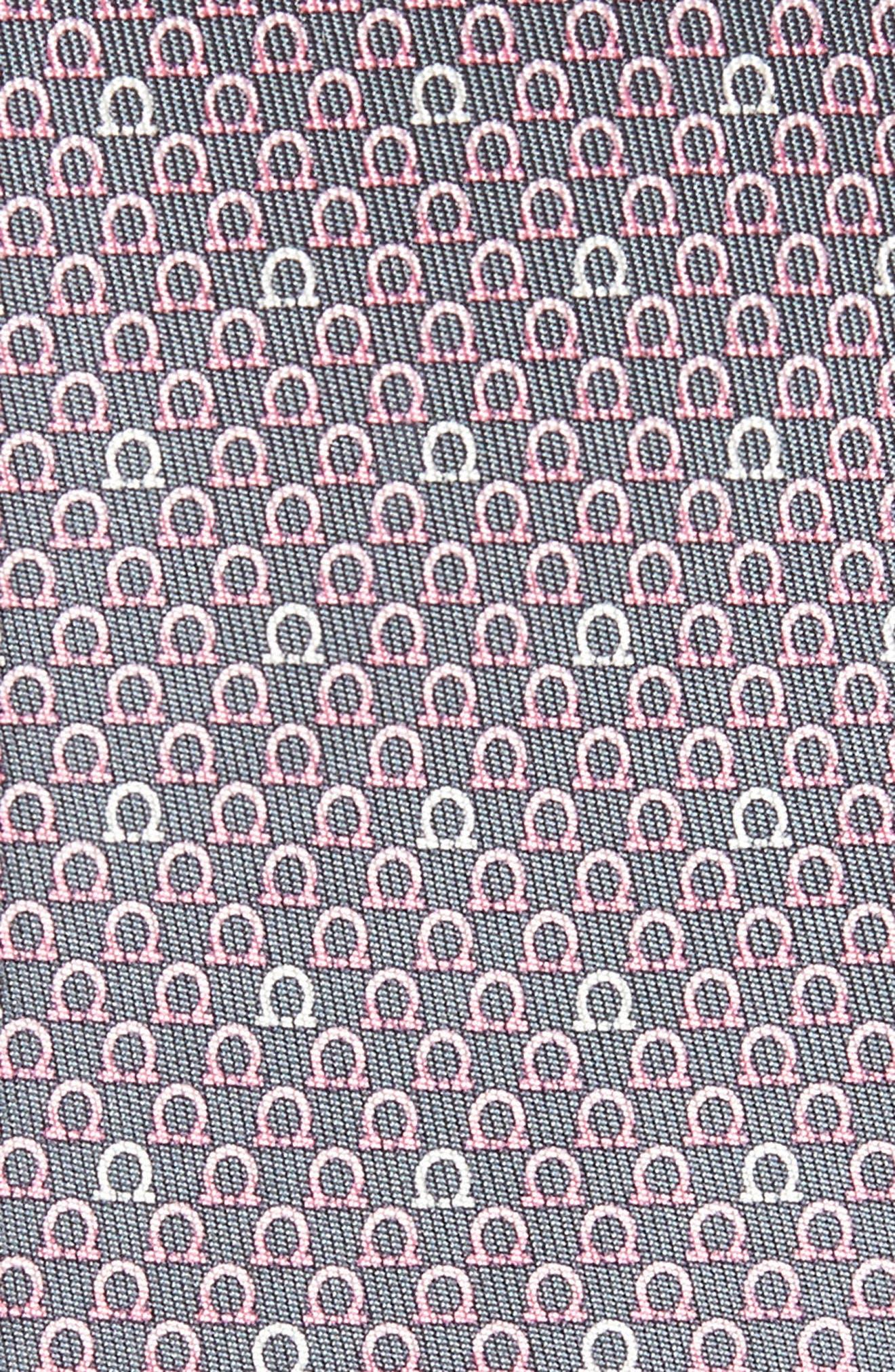 Geometric Print Silk Tie,                             Alternate thumbnail 2, color,                             Grey