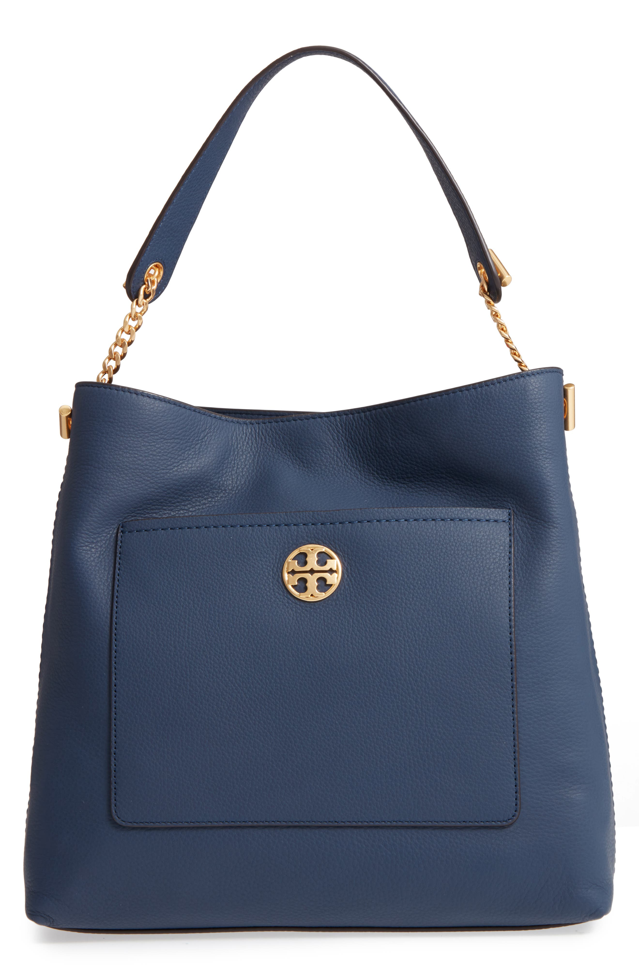Tory Burch Chelsea Chain Leather Hobo