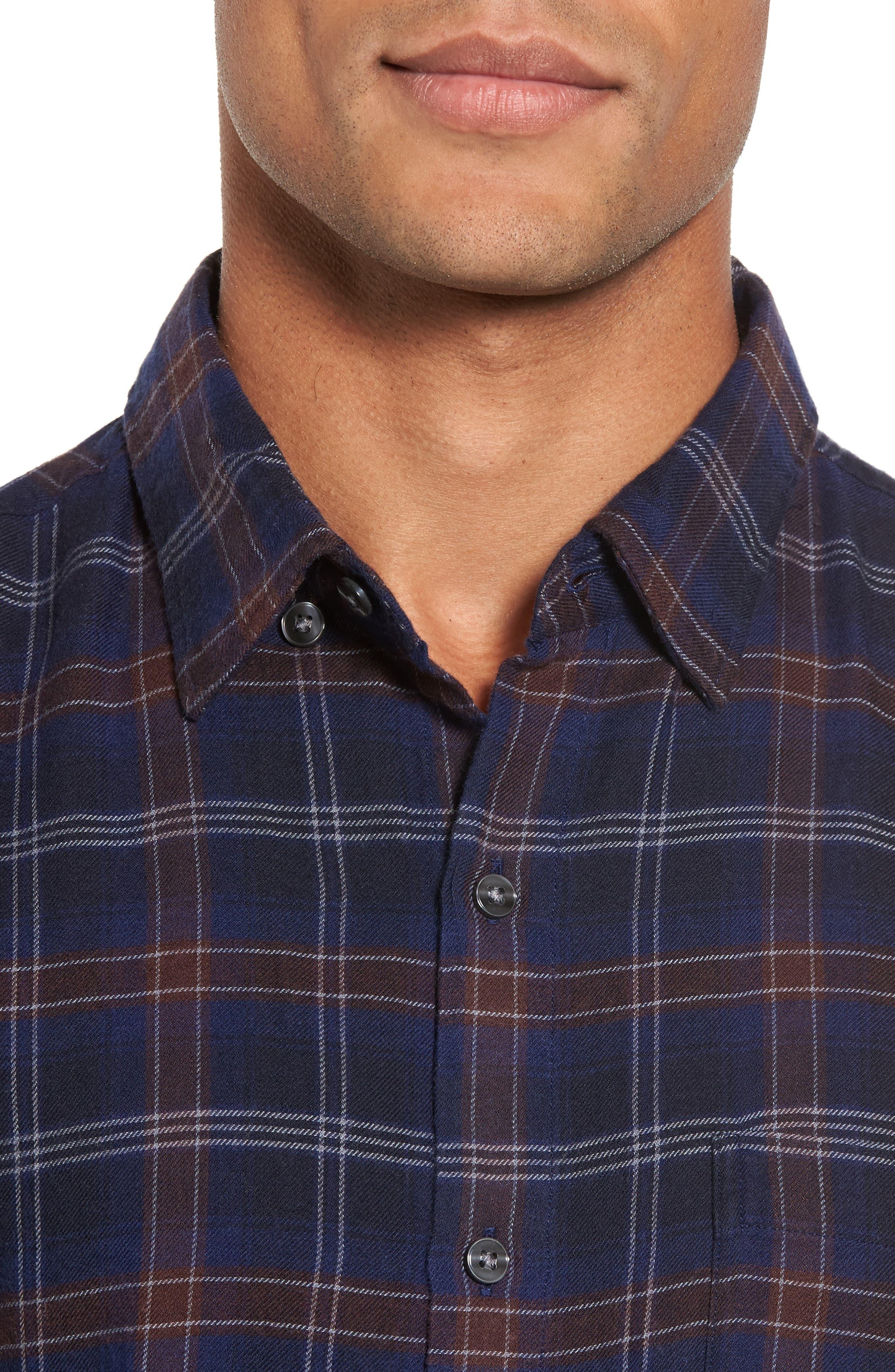 Alternate Image 4  - Bonobos Slim Fit Check Brushed Twill Sport Shirt