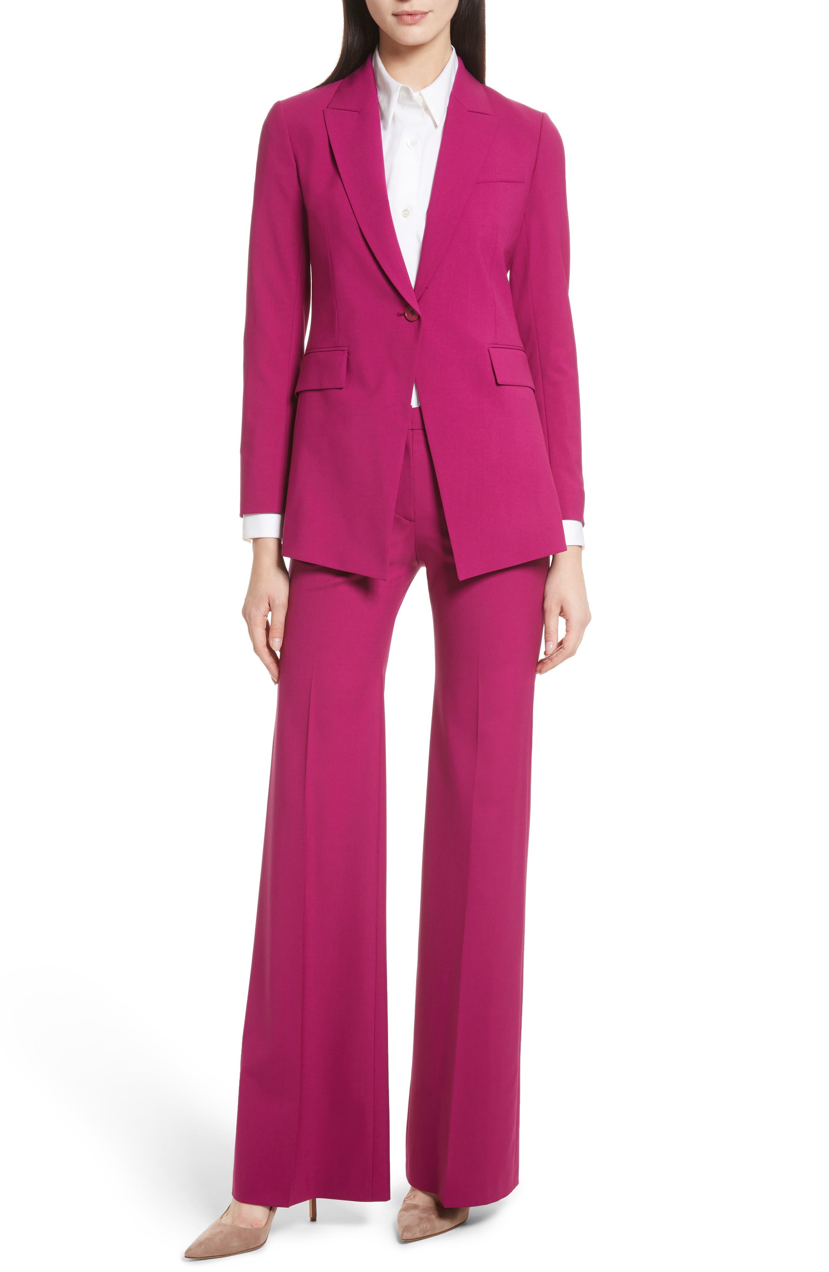 Etienette B Good Wool Suit Jacket,                             Alternate thumbnail 2, color,                             Electric Pink