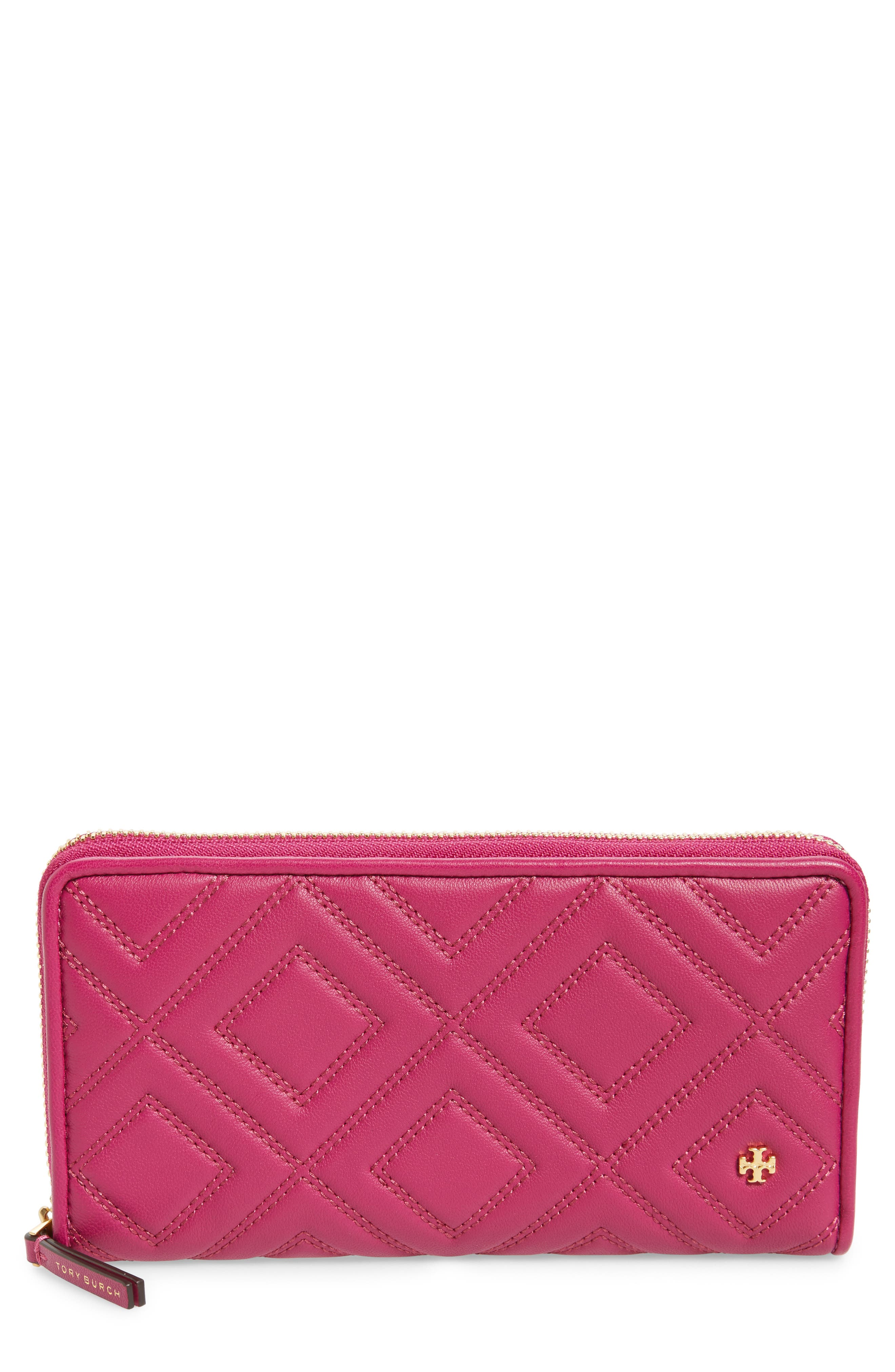 Tory Burch Louisa Embossed Lambskin Leather Continental Wallet
