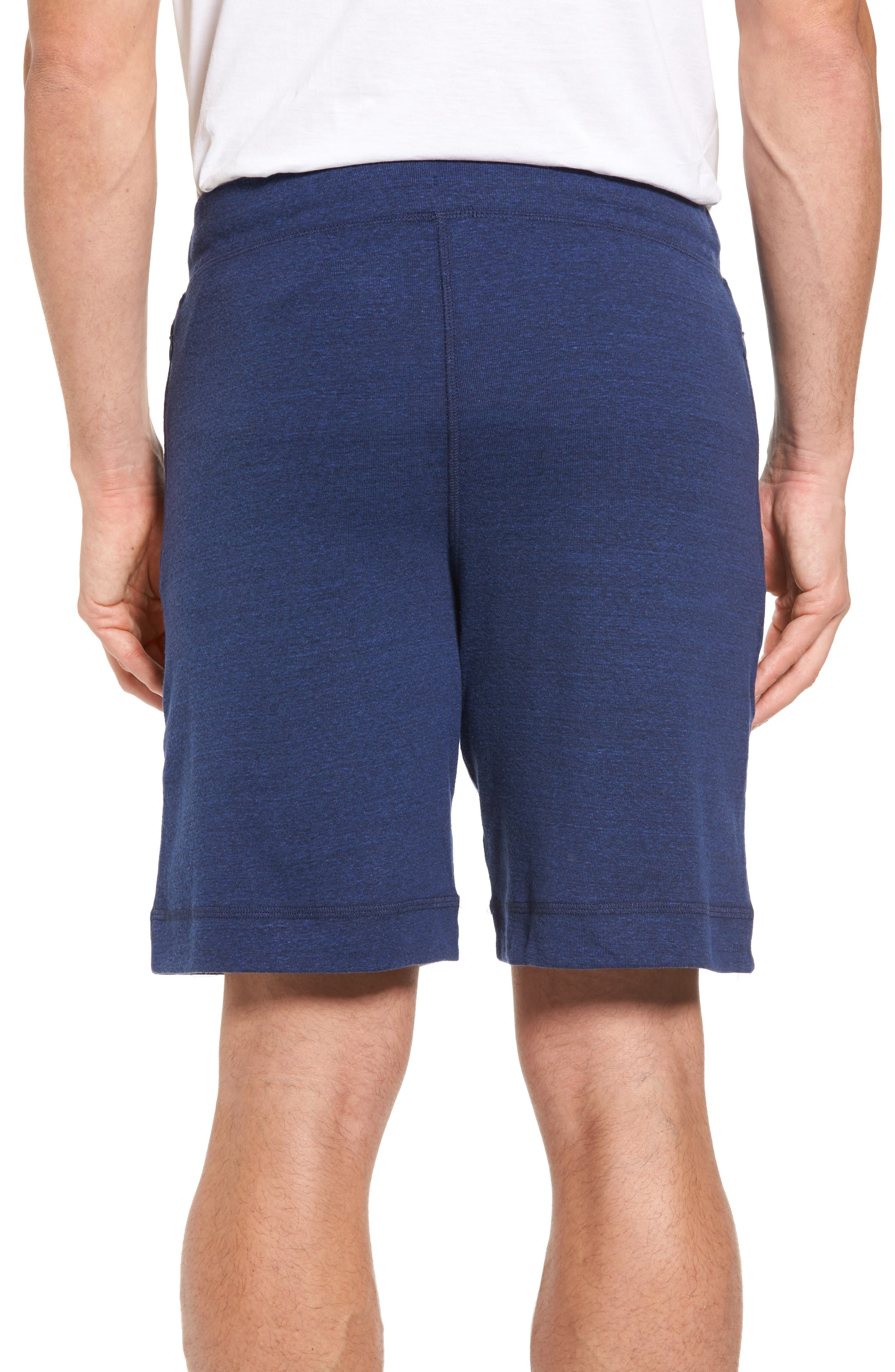 Revival Relaxed Knit Shorts,                             Alternate thumbnail 2, color,                             Navy Triblend