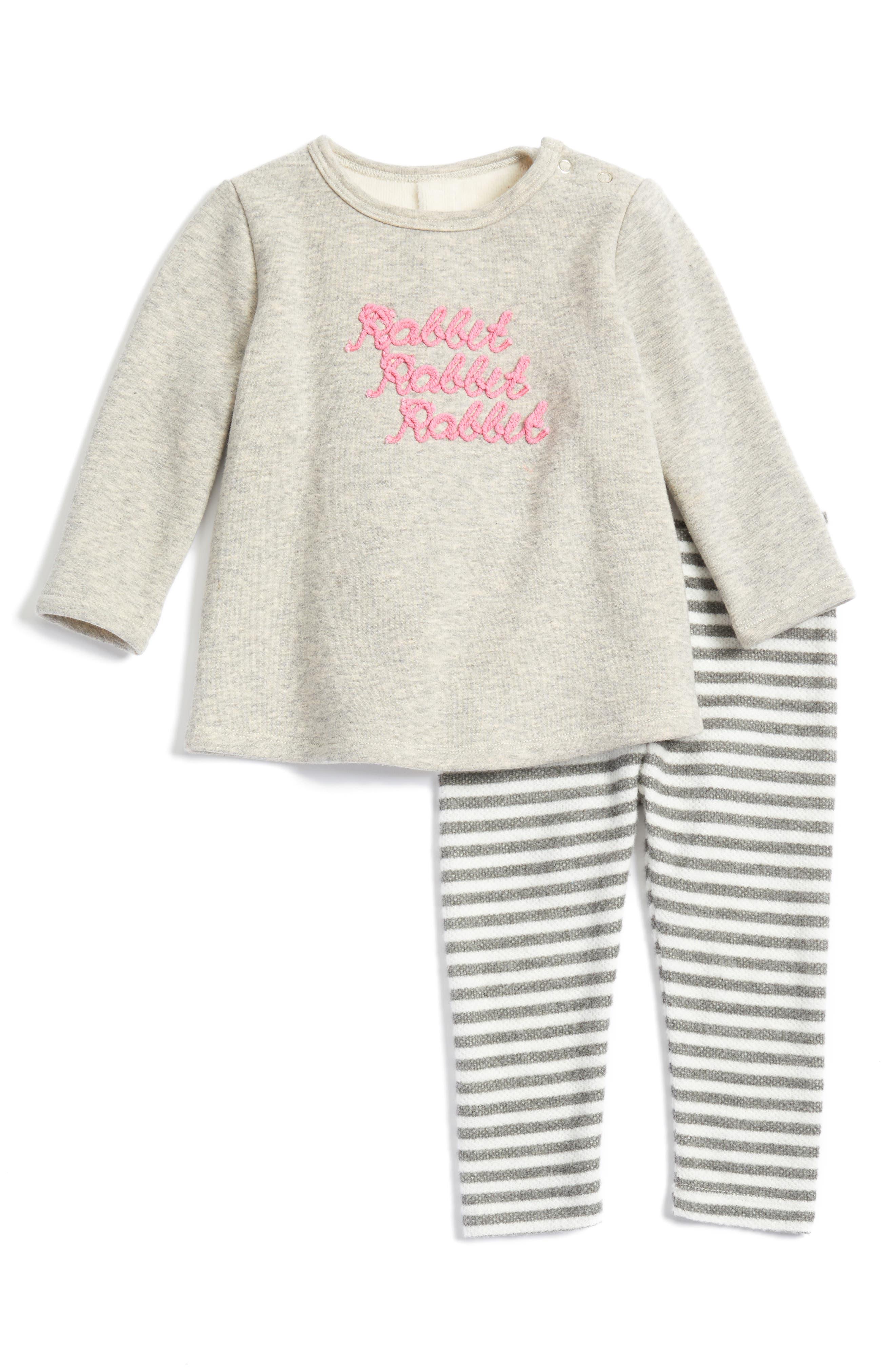 Main Image - Nordstrom Baby Fleece Tunic & Leggings Set (Baby Girls)