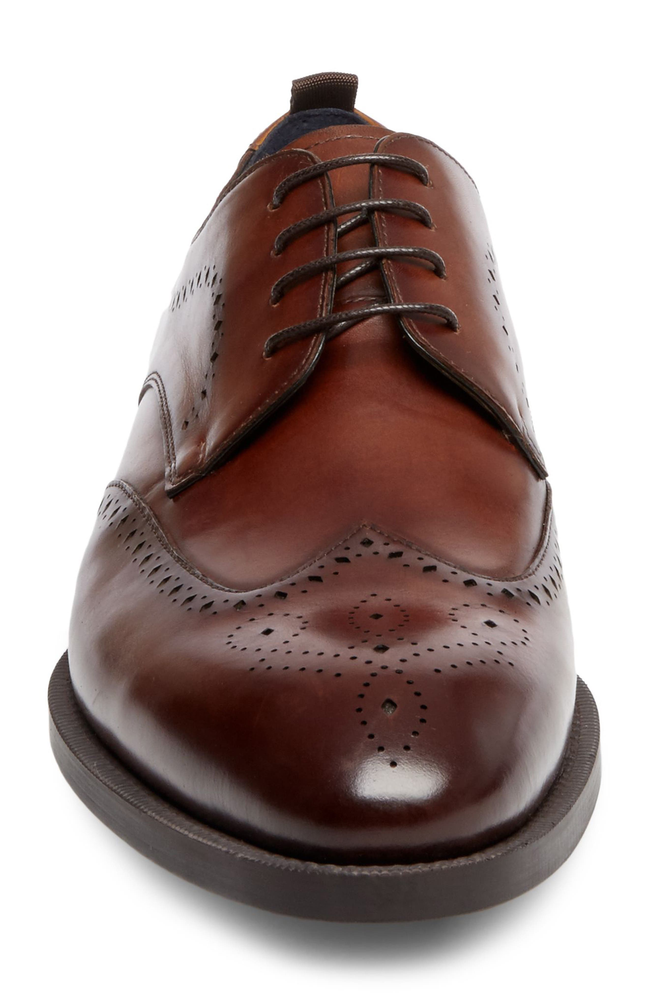 Candyd Wingtip,                             Alternate thumbnail 4, color,                             Brown Leather