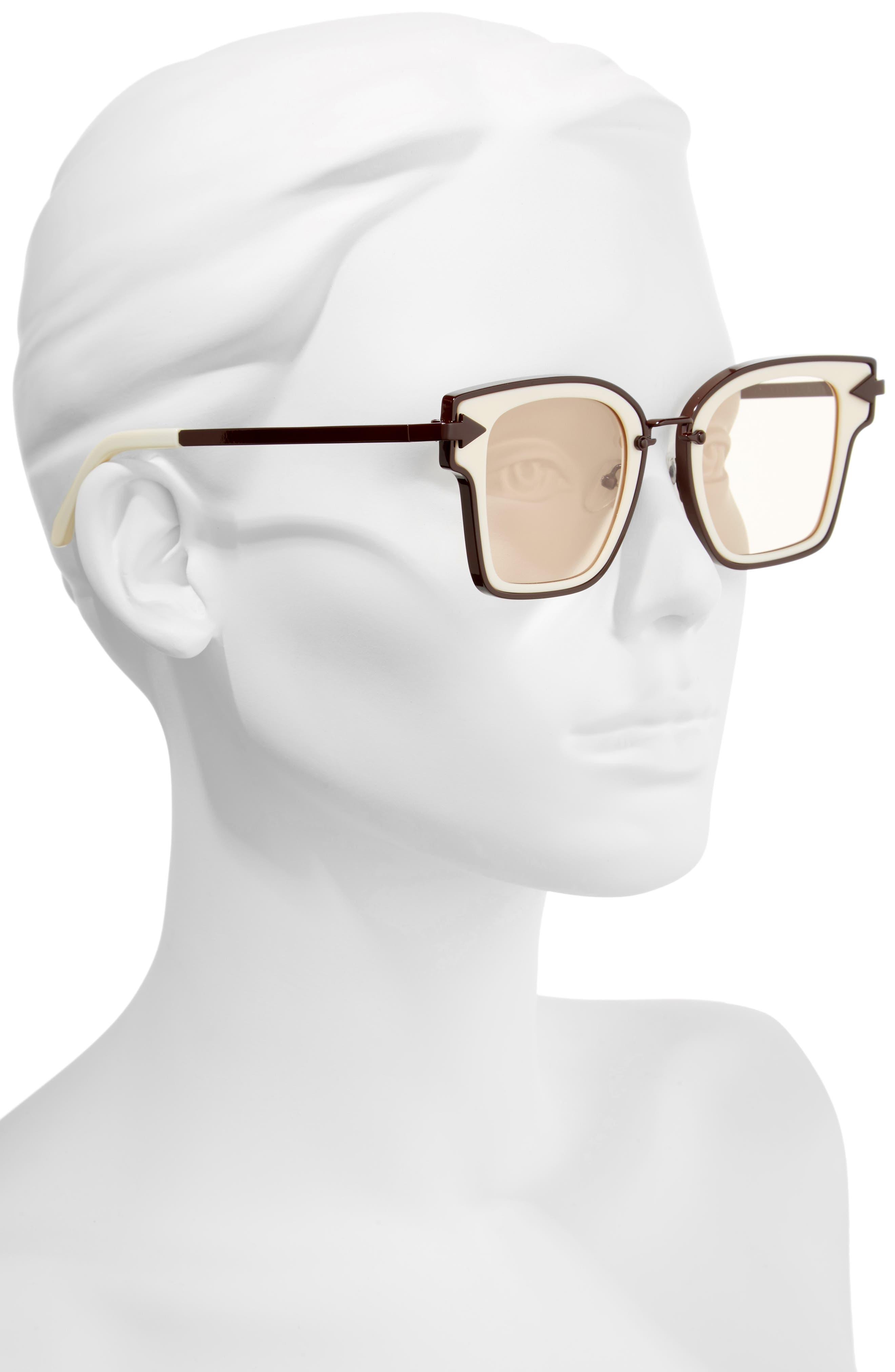 Rebellion 49mm Sunglasses,                             Alternate thumbnail 3, color,                             Ecru