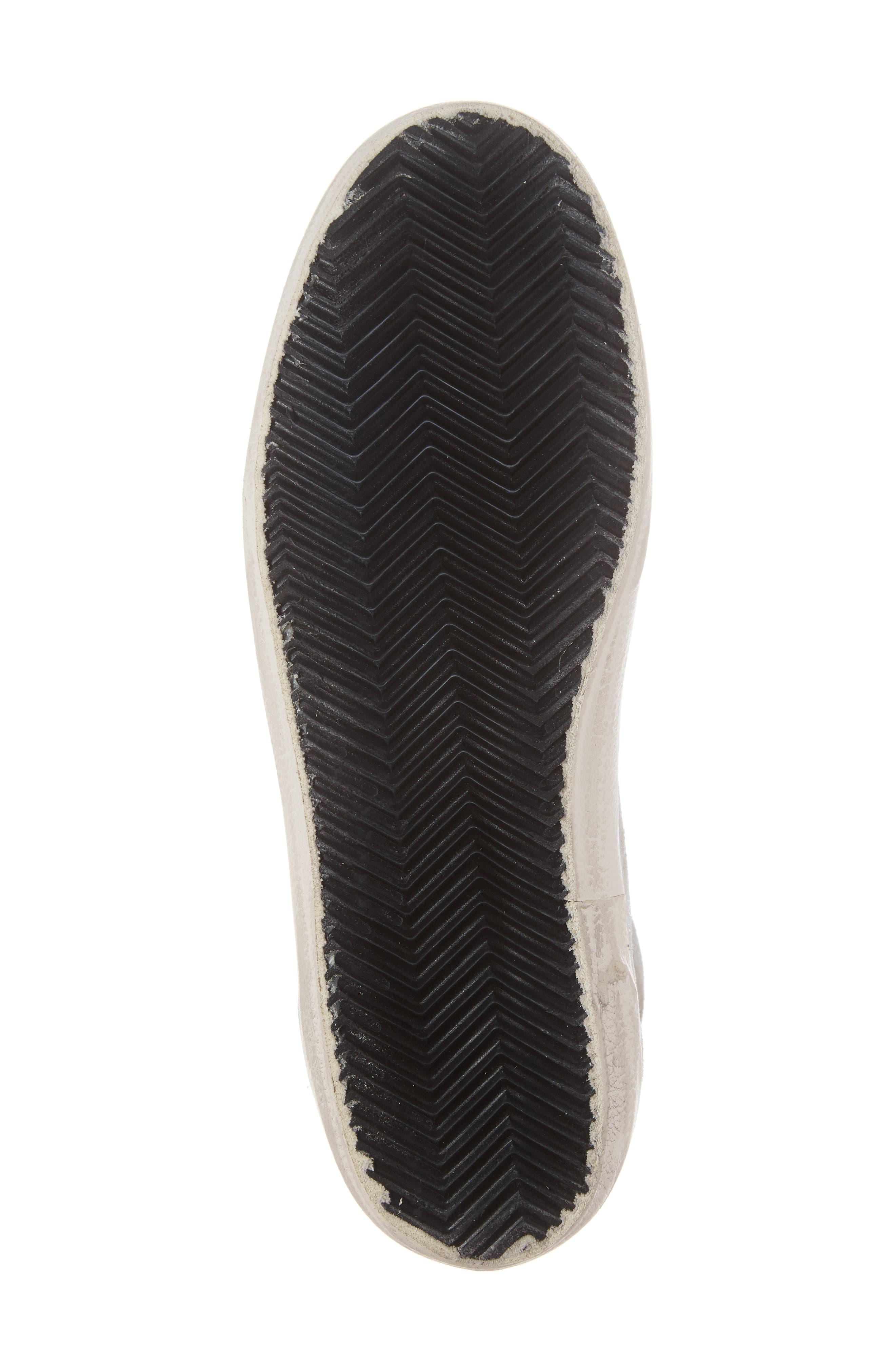 Star Mid Top Sneaker,                             Alternate thumbnail 6, color,                             White Zebra