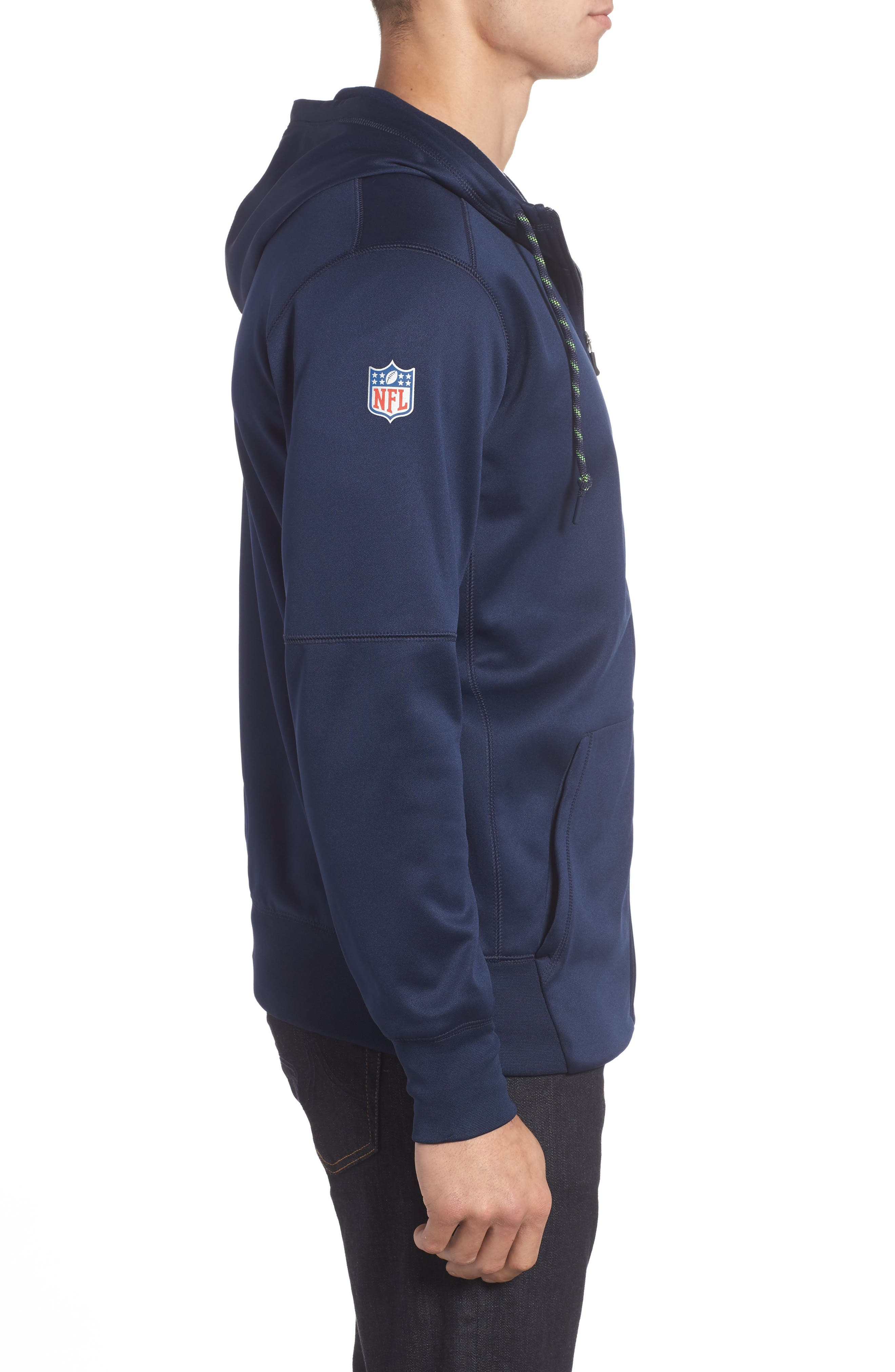 Therma-FIT NFL Graphic Zip Hoodie,                             Alternate thumbnail 3, color,                             Seahawks