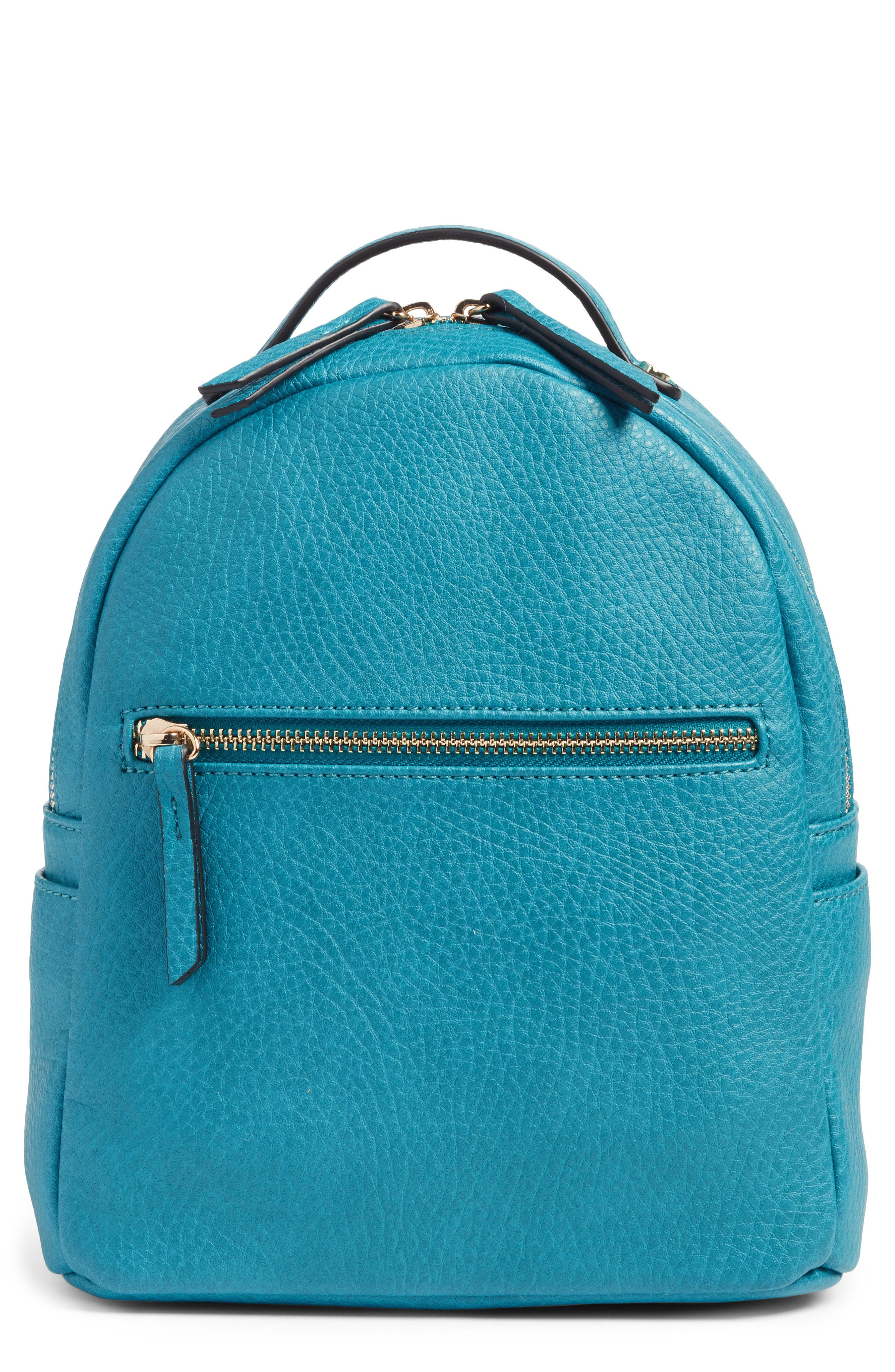 Mali + Lili Vegan Leather Backpack,                         Main,                         color, Blue