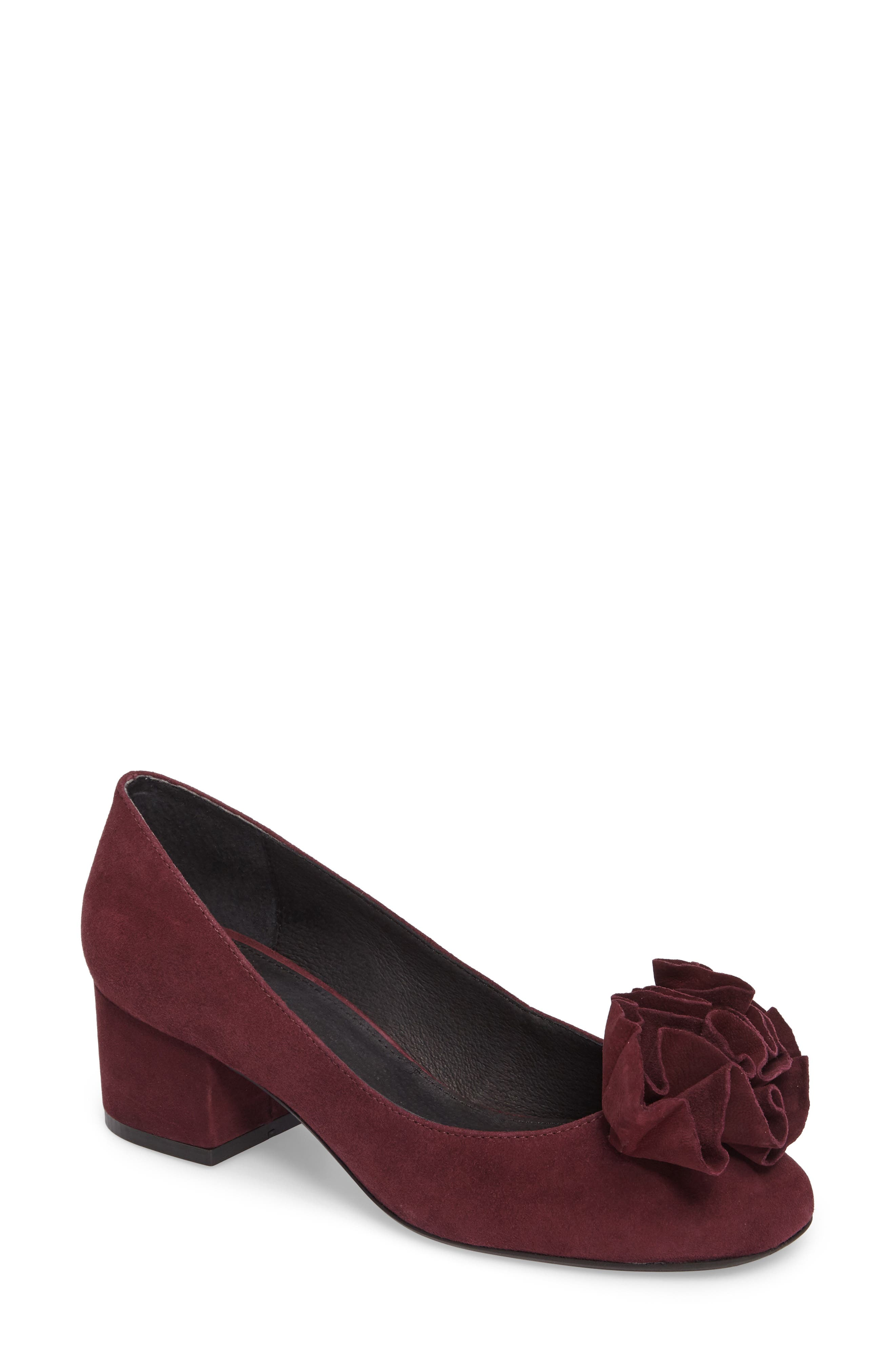 Lilly Pump,                             Main thumbnail 1, color,                             Chianti Suede