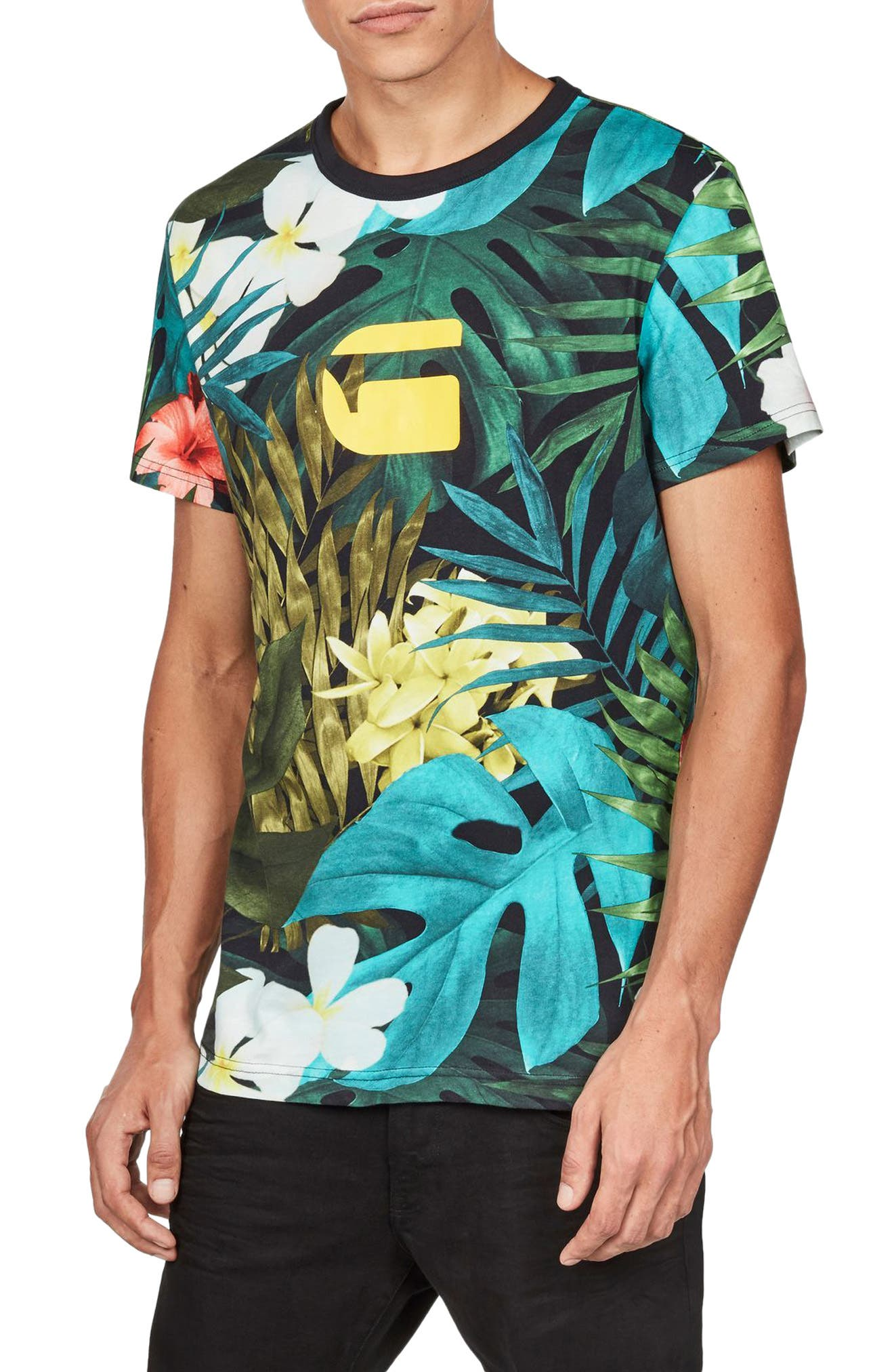 G-Star Raw Aloha Print Graphic T-Shirt