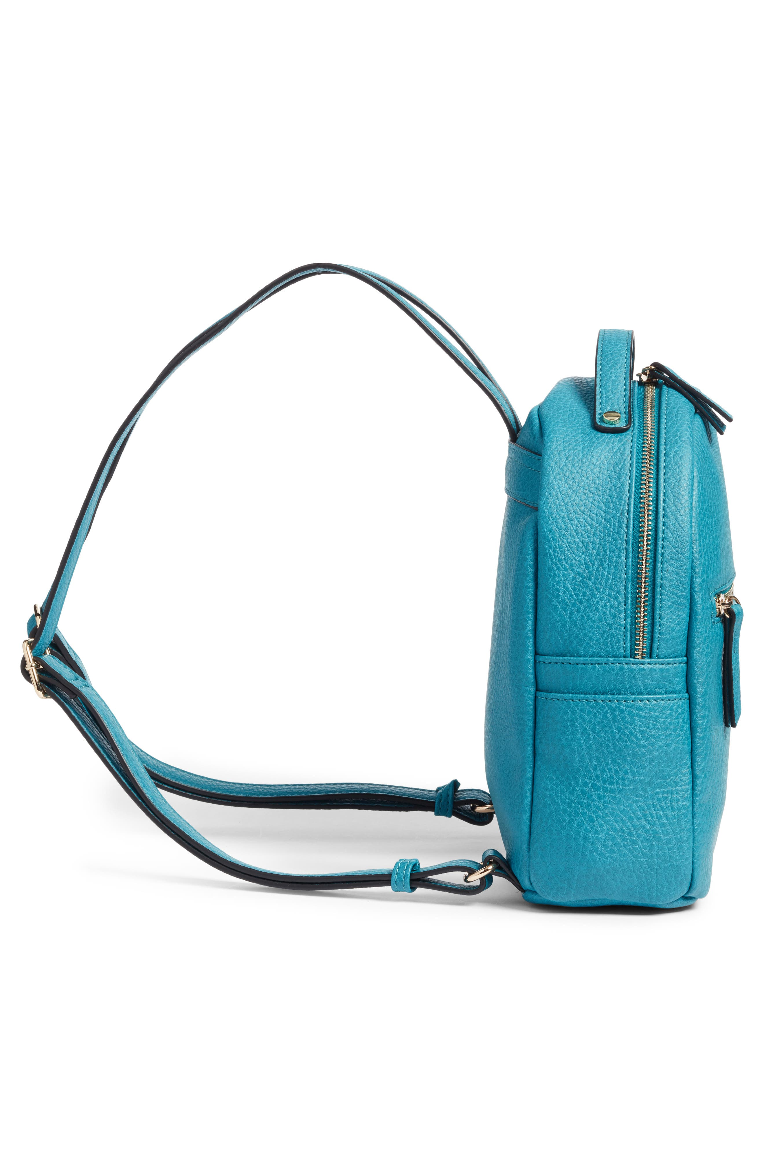 Mali + Lili Vegan Leather Backpack,                             Alternate thumbnail 5, color,                             Blue