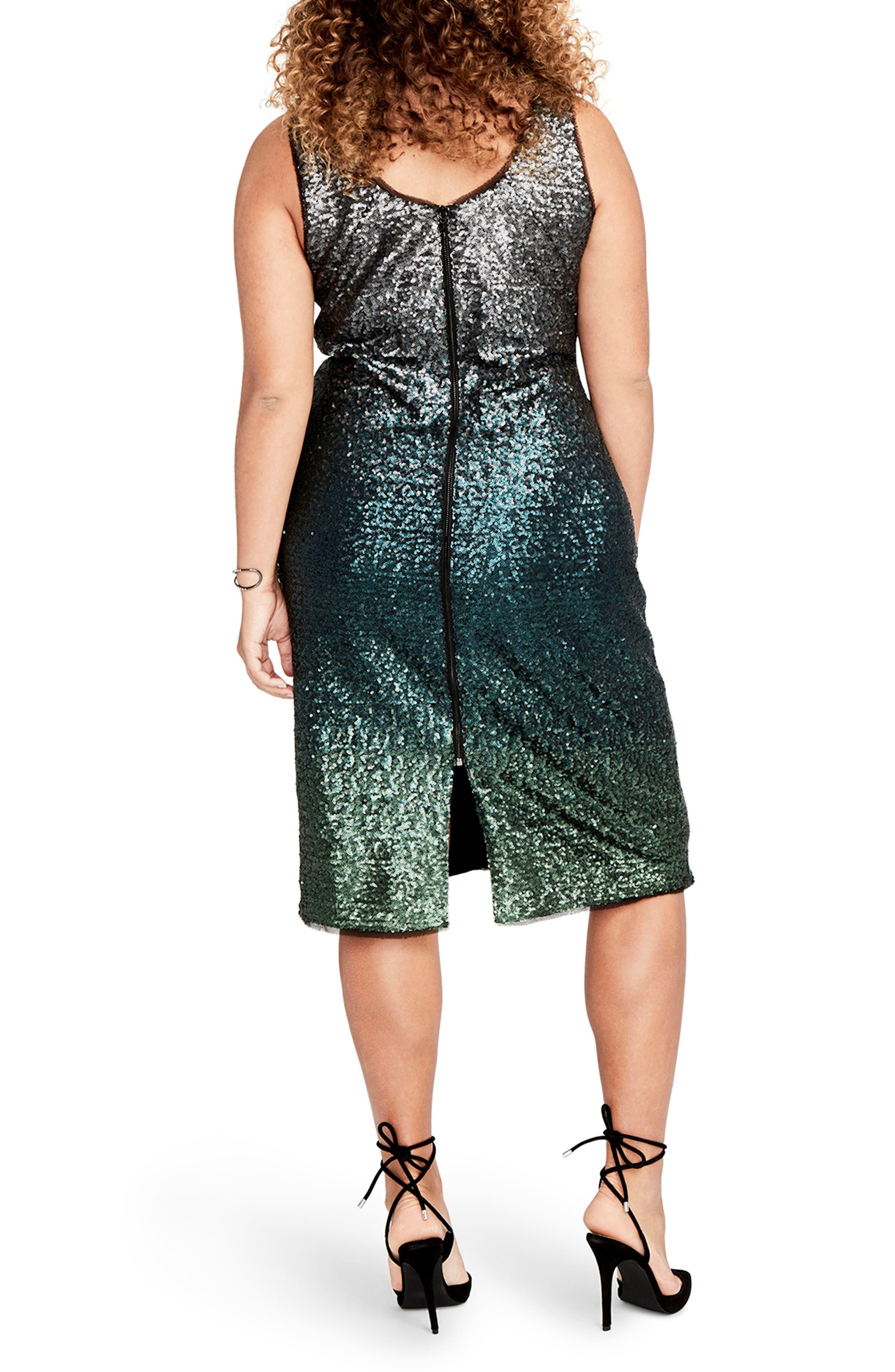 Alternate Image 2  - RACHEL Rachel Roy Ombré Sequin Sheath Dress (Plus Size)