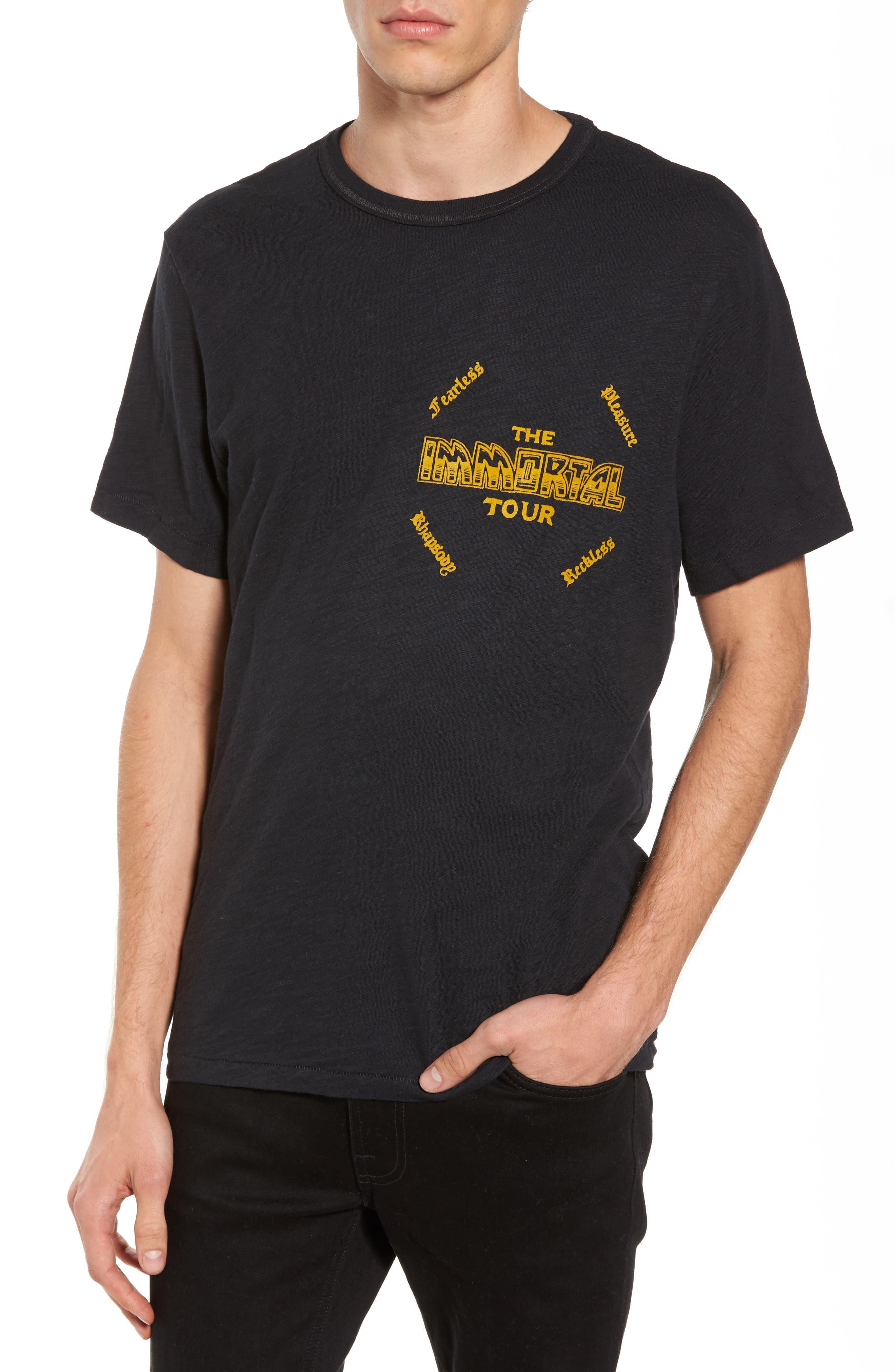 Handbill T-Shirt,                             Main thumbnail 1, color,                             Black