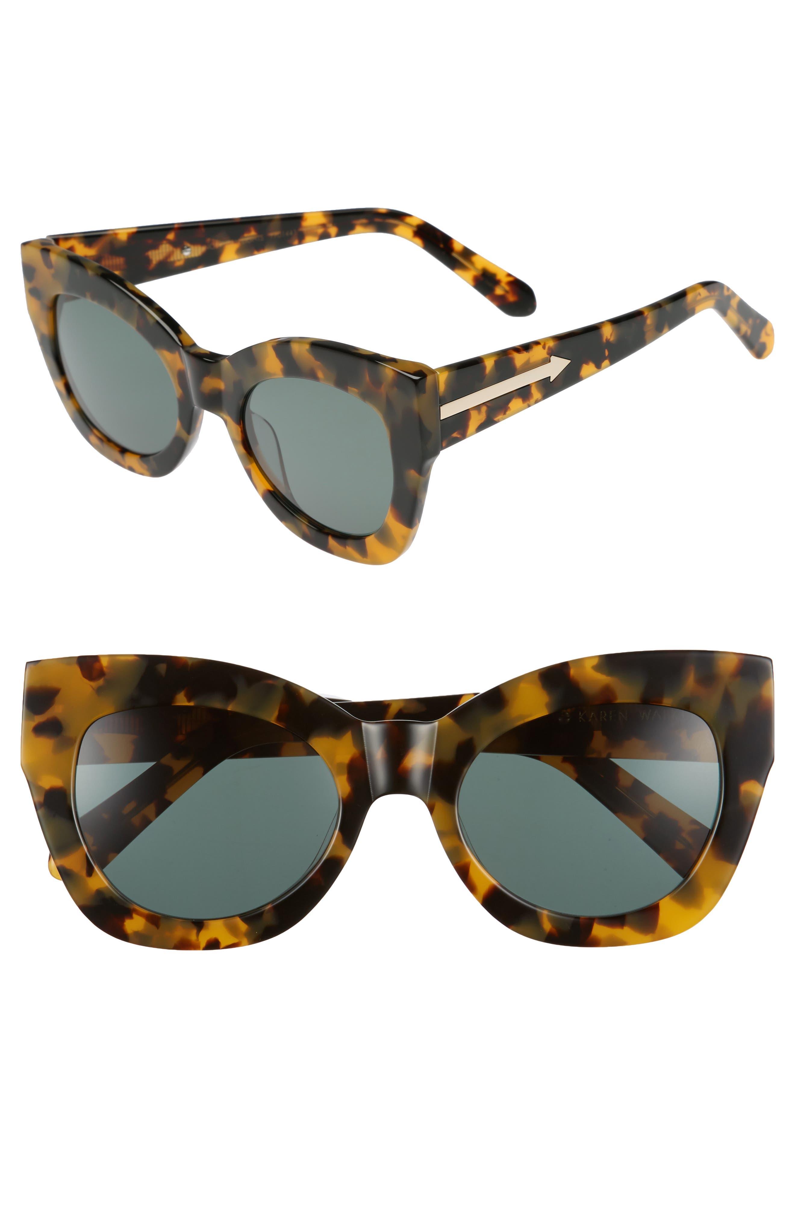 Northern Lights V2 51mm Cat Eye Sunglasses,                         Main,                         color, Crazy Tortoise