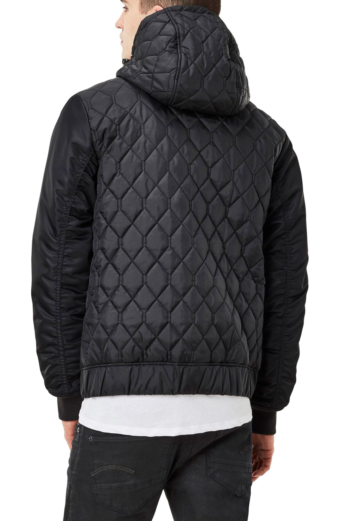 Meefic Hybrid Quilted Jacket,                             Alternate thumbnail 2, color,                             Black
