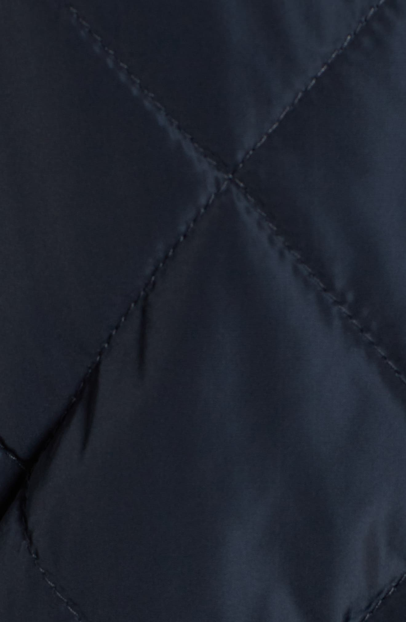 Merchant Long Quilted Jacket,                             Alternate thumbnail 5, color,                             Navy
