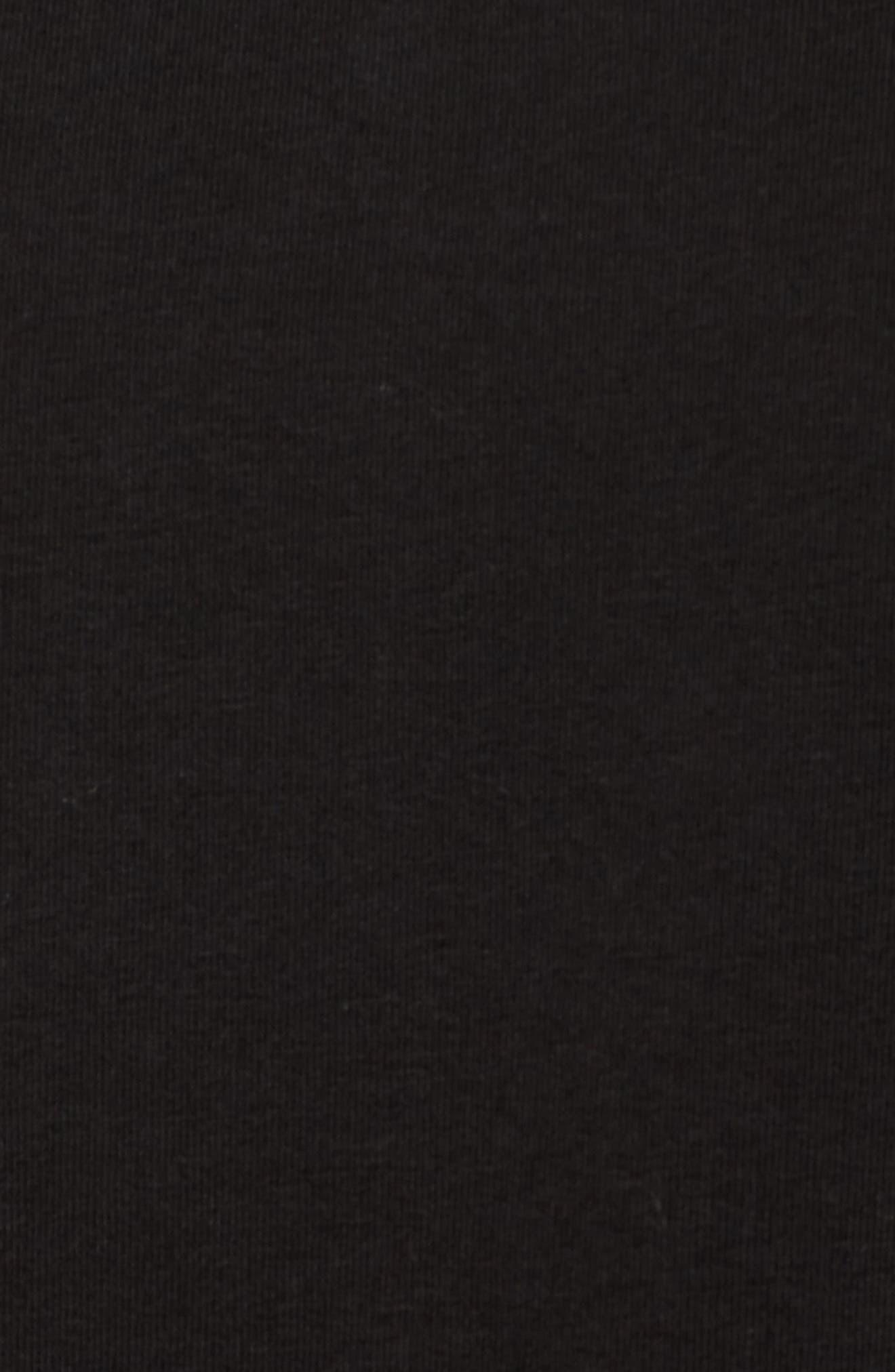 Fleece Panel Sweatshirt,                             Alternate thumbnail 5, color,                             Black
