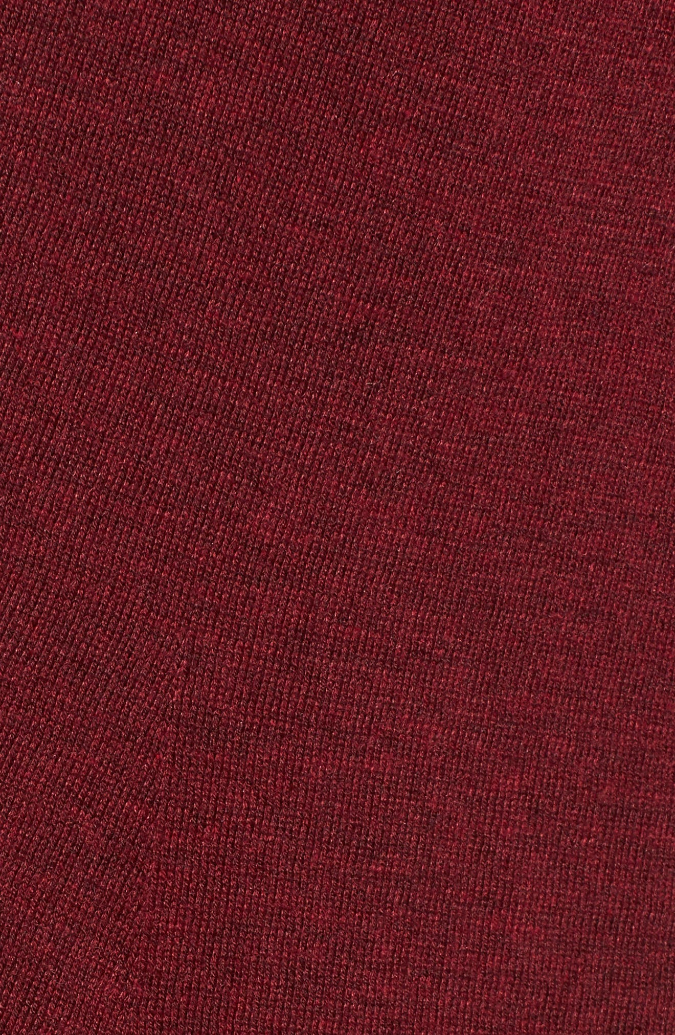 Shaped Tencel<sup>®</sup> Lyocell Blend Cardigan,                             Alternate thumbnail 5, color,                             Claret