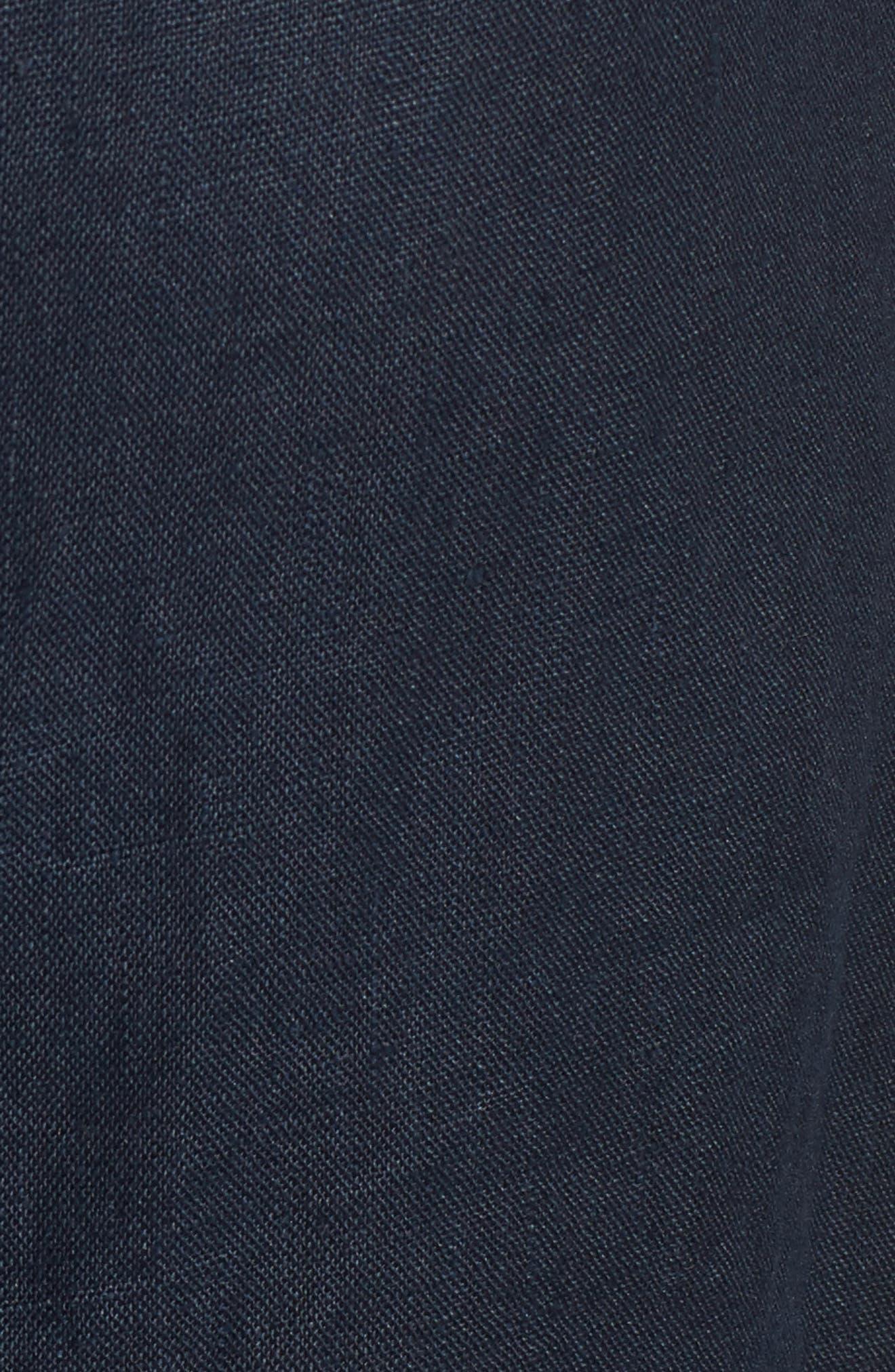 Le Roch Midi Dress,                             Alternate thumbnail 6, color,                             Plain Navy