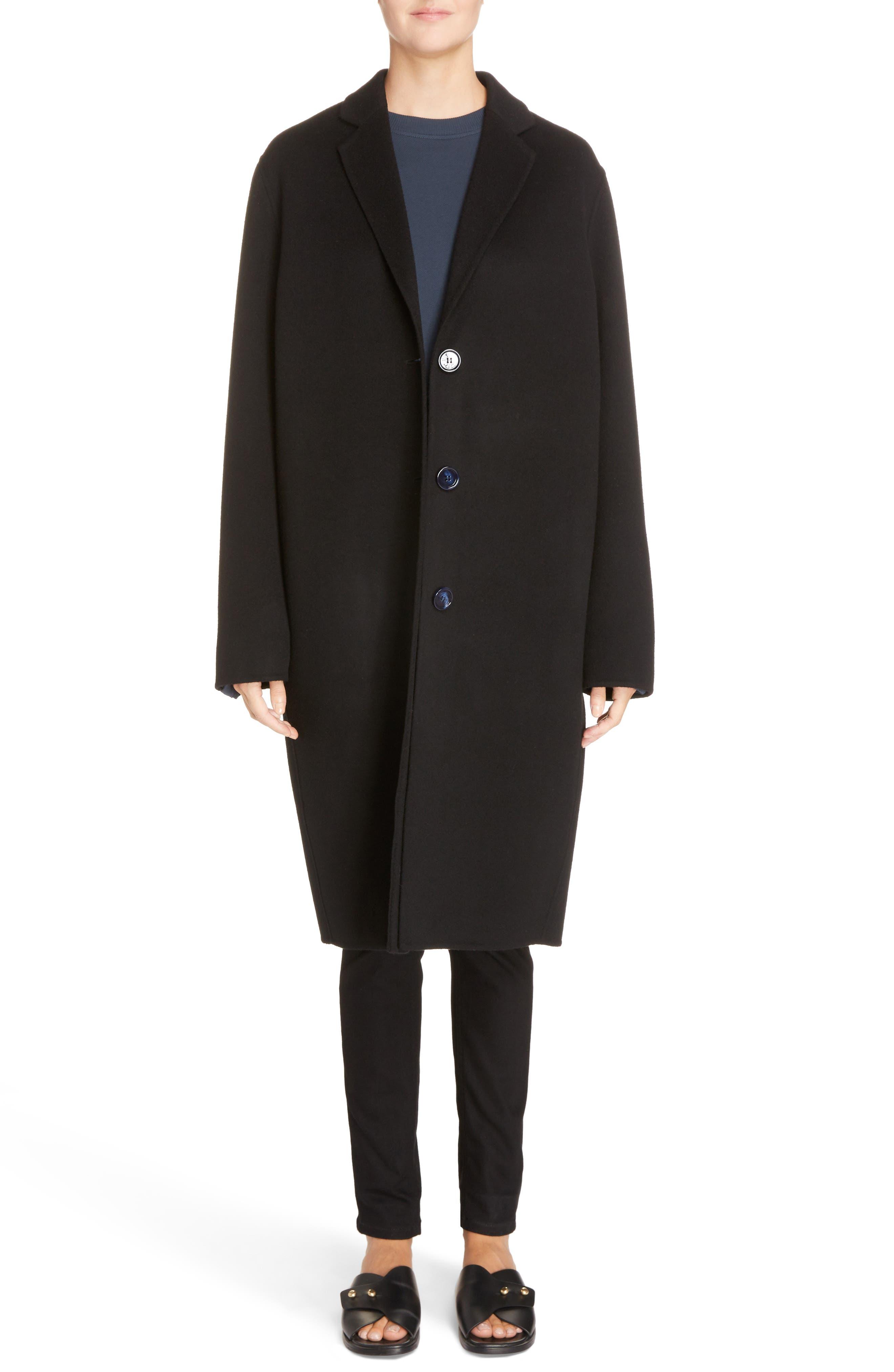 Avalon Wool & Cashmere Coat,                             Alternate thumbnail 6, color,                             Black